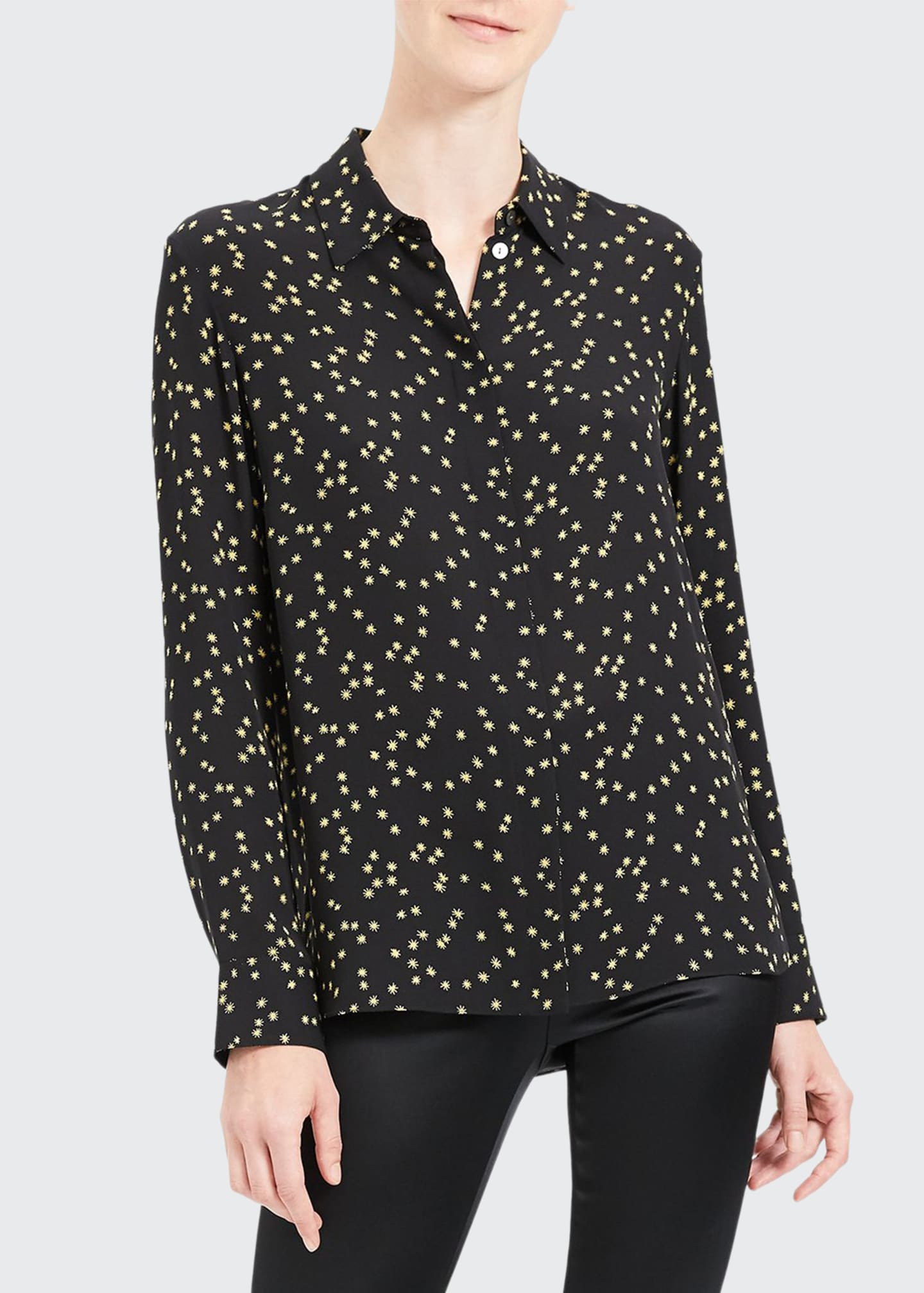 Image 1 of 4: Classic Printed Button-Down Shirt