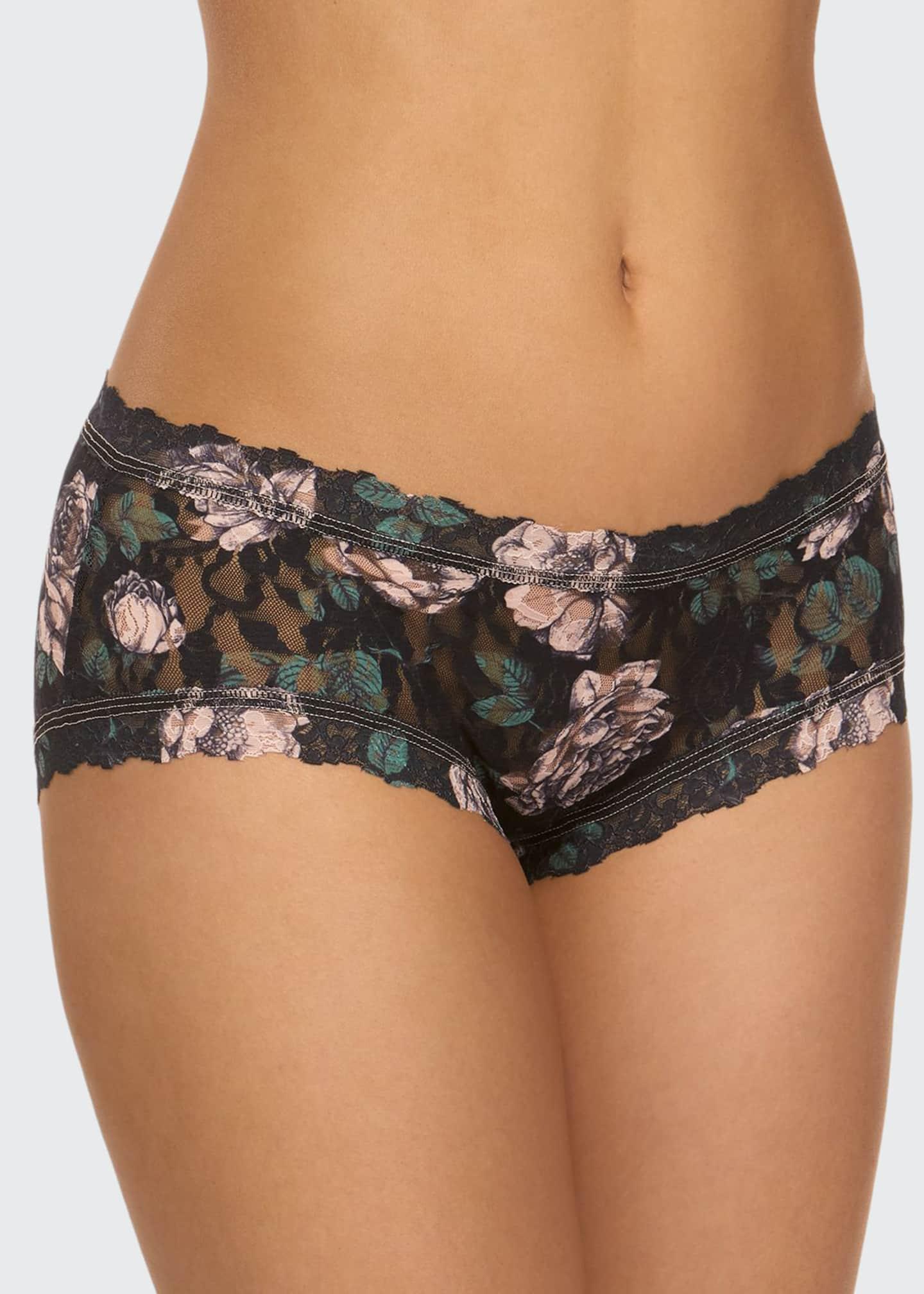 Hanky Panky Floral-Print Lace Girlkini Boyshorts