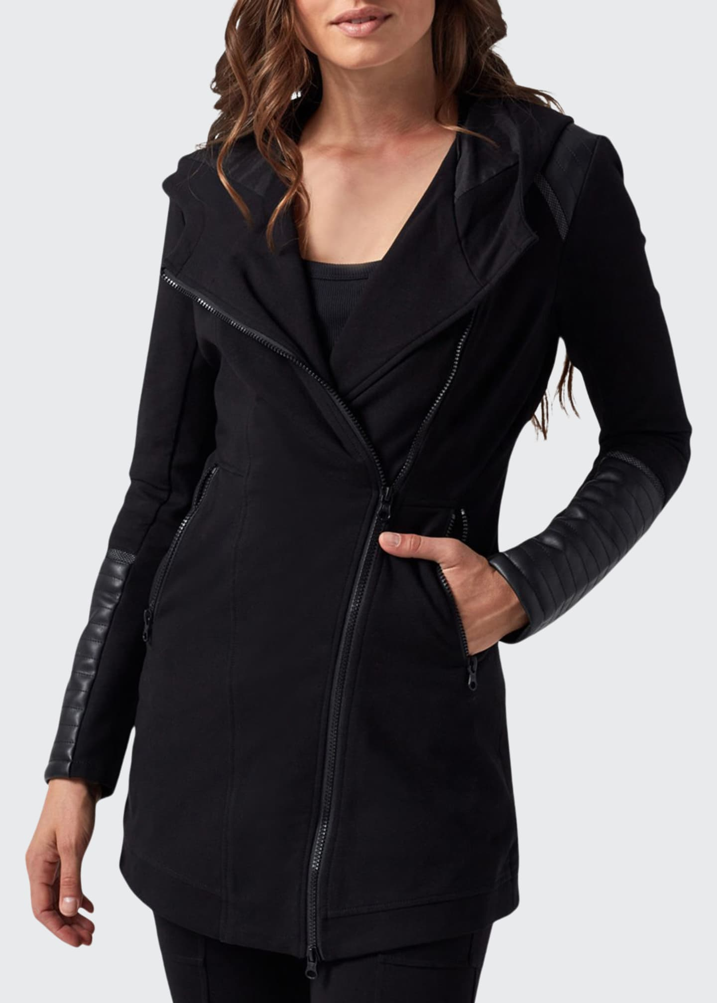 Blanc Noir Hooded Traveler Jacket