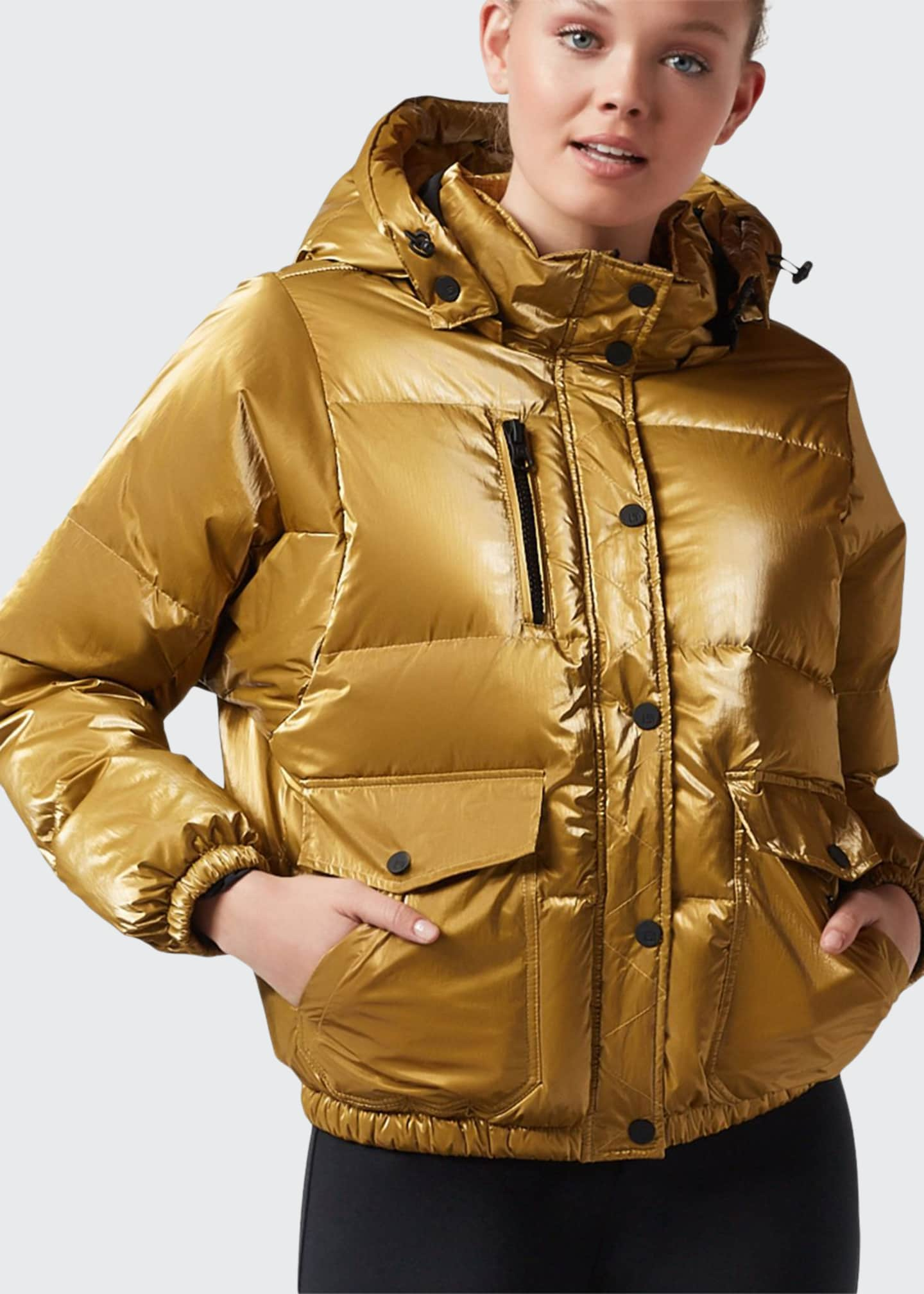 Image 1 of 4: Mont Blanc Hooded Puffer Jacket