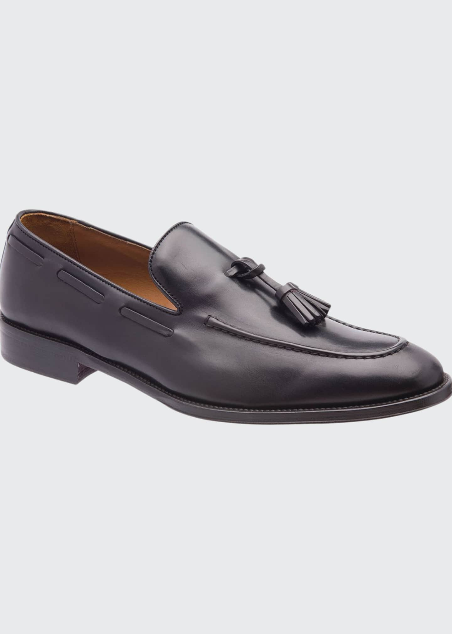 Image 1 of 5: Men's Alfio Leather Tassel Loafers