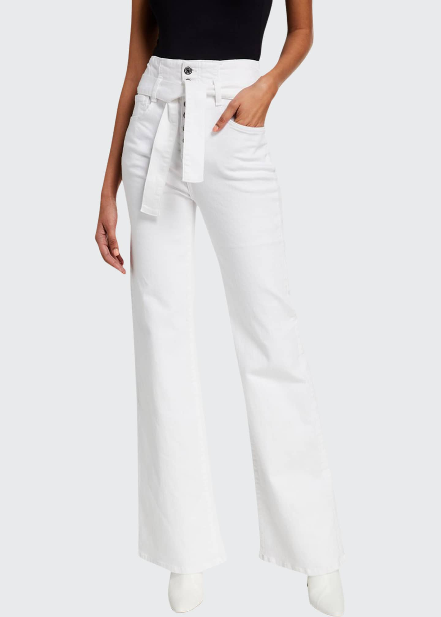 Image 1 of 3: Rosanna Belted Wide-Leg Jeans