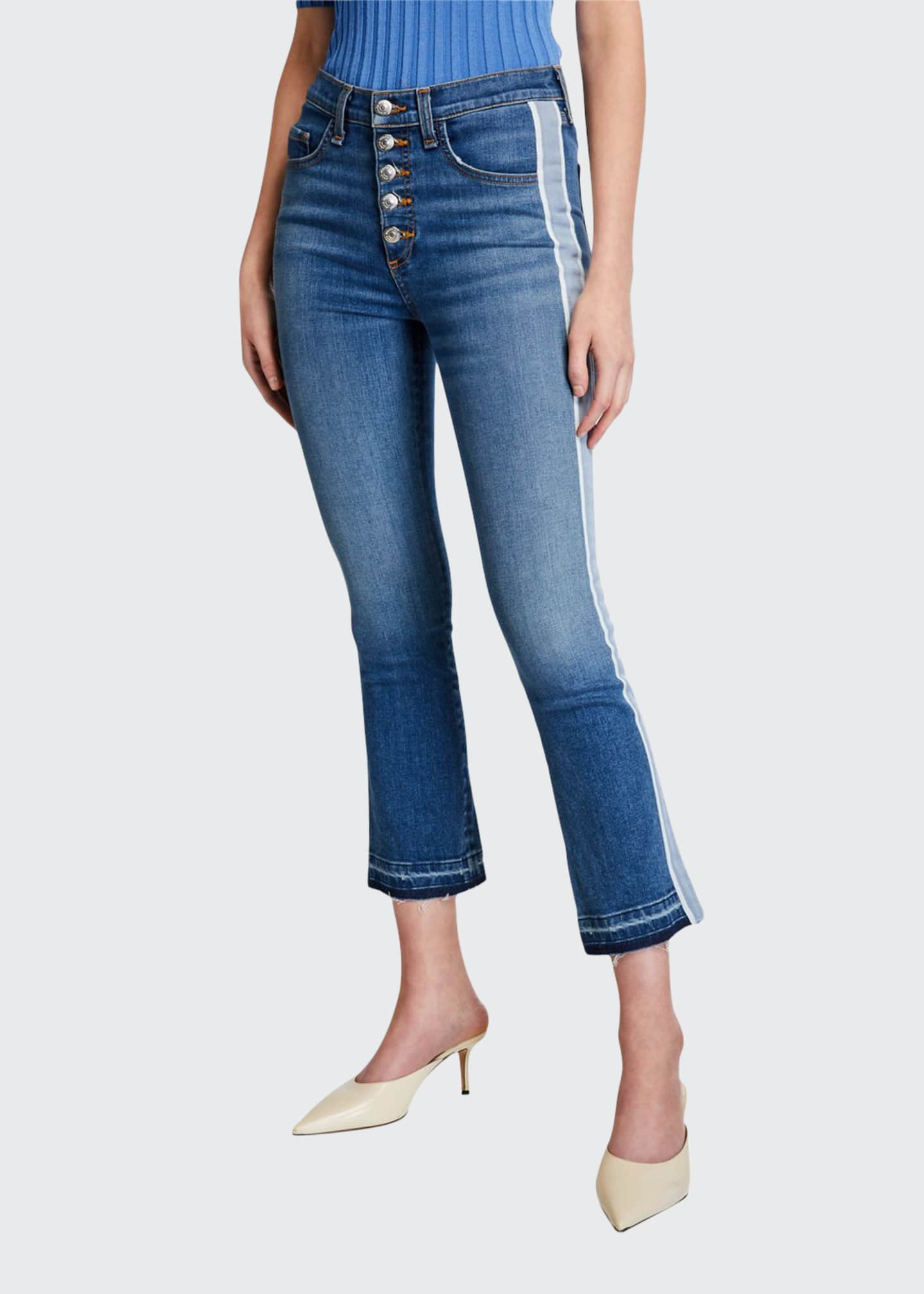 Veronica Beard Carolyn Baby Boot Cropped Jeans with