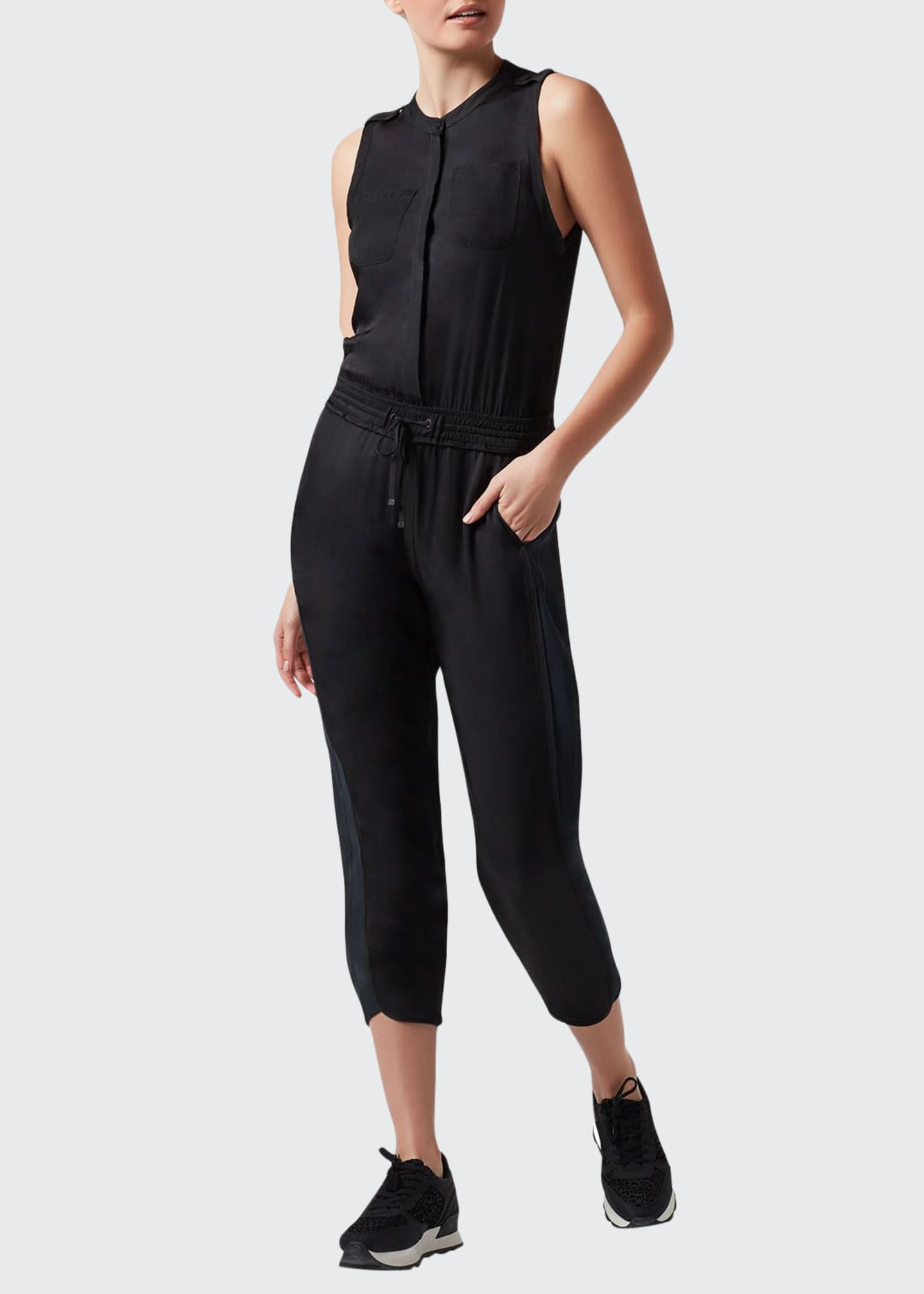 Blanc Noir Finesse Sleeveless Jumpsuit