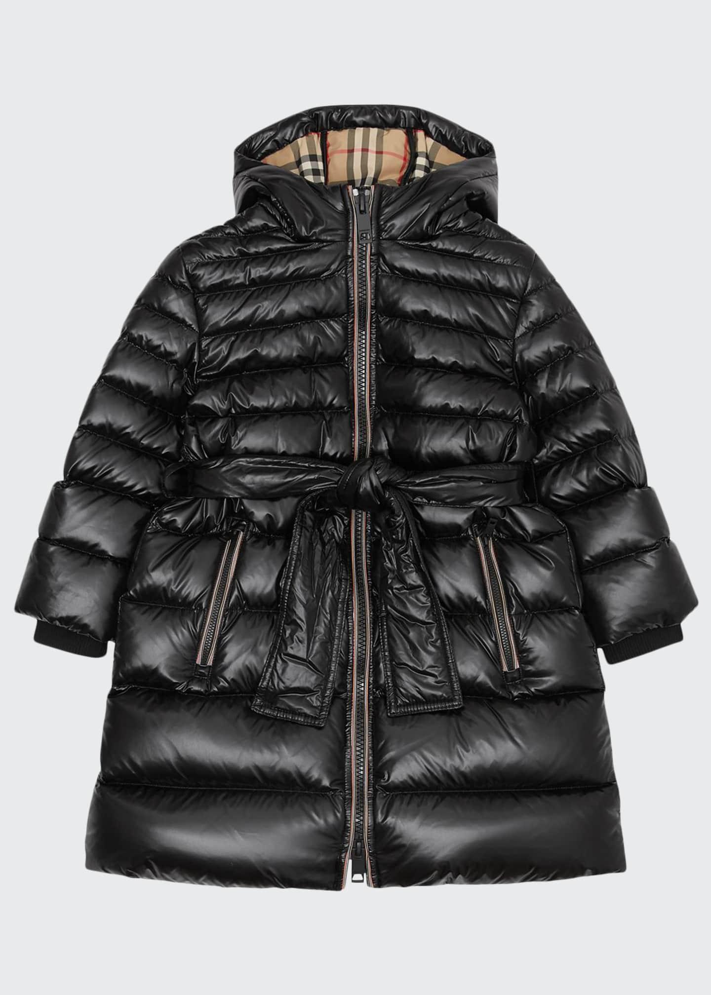 Burberry Girl's Sharona Long Puffer Coat, Size 3-14