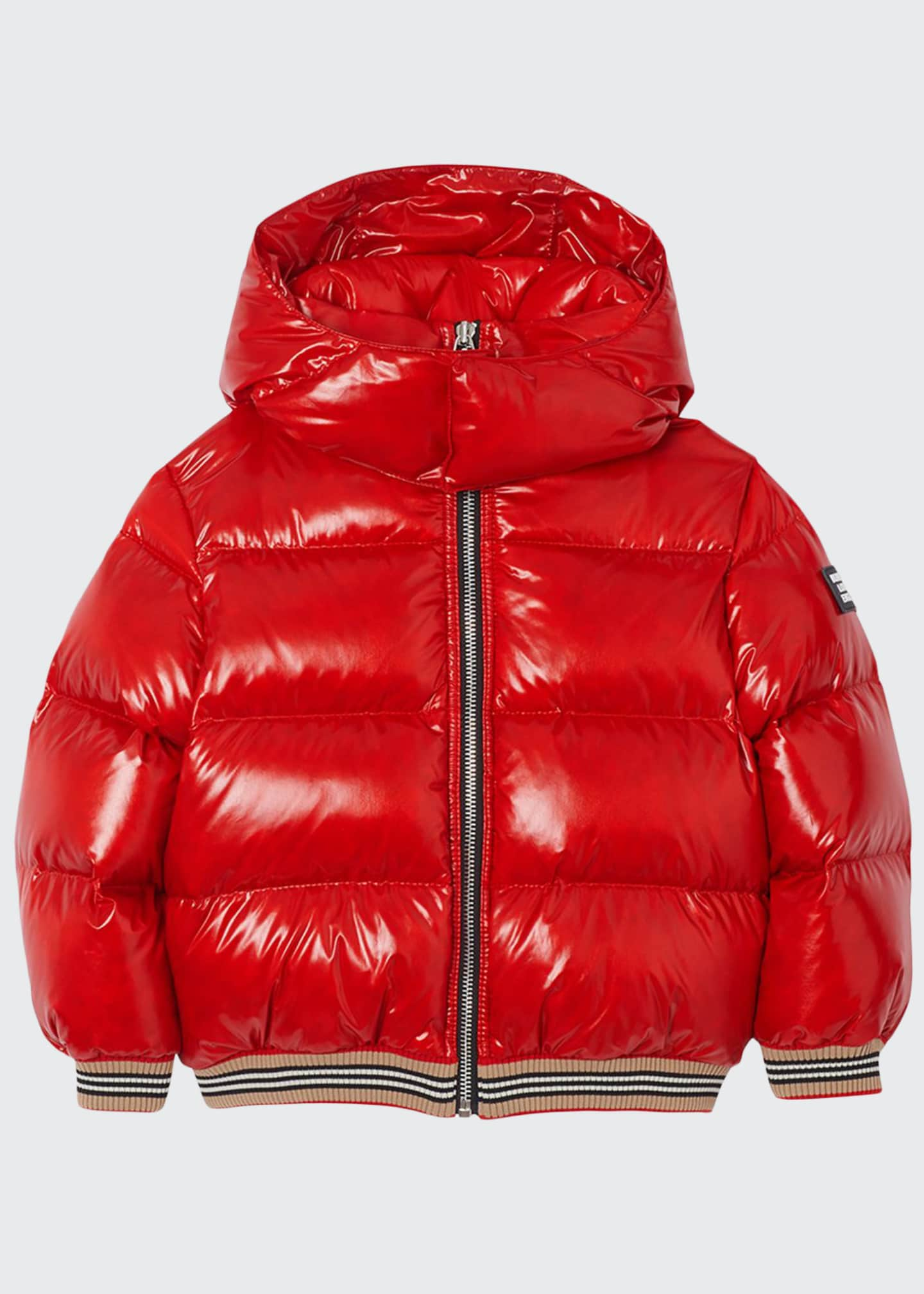 Burberry Girl's Josiah Short Puffer Coat w/ Icon