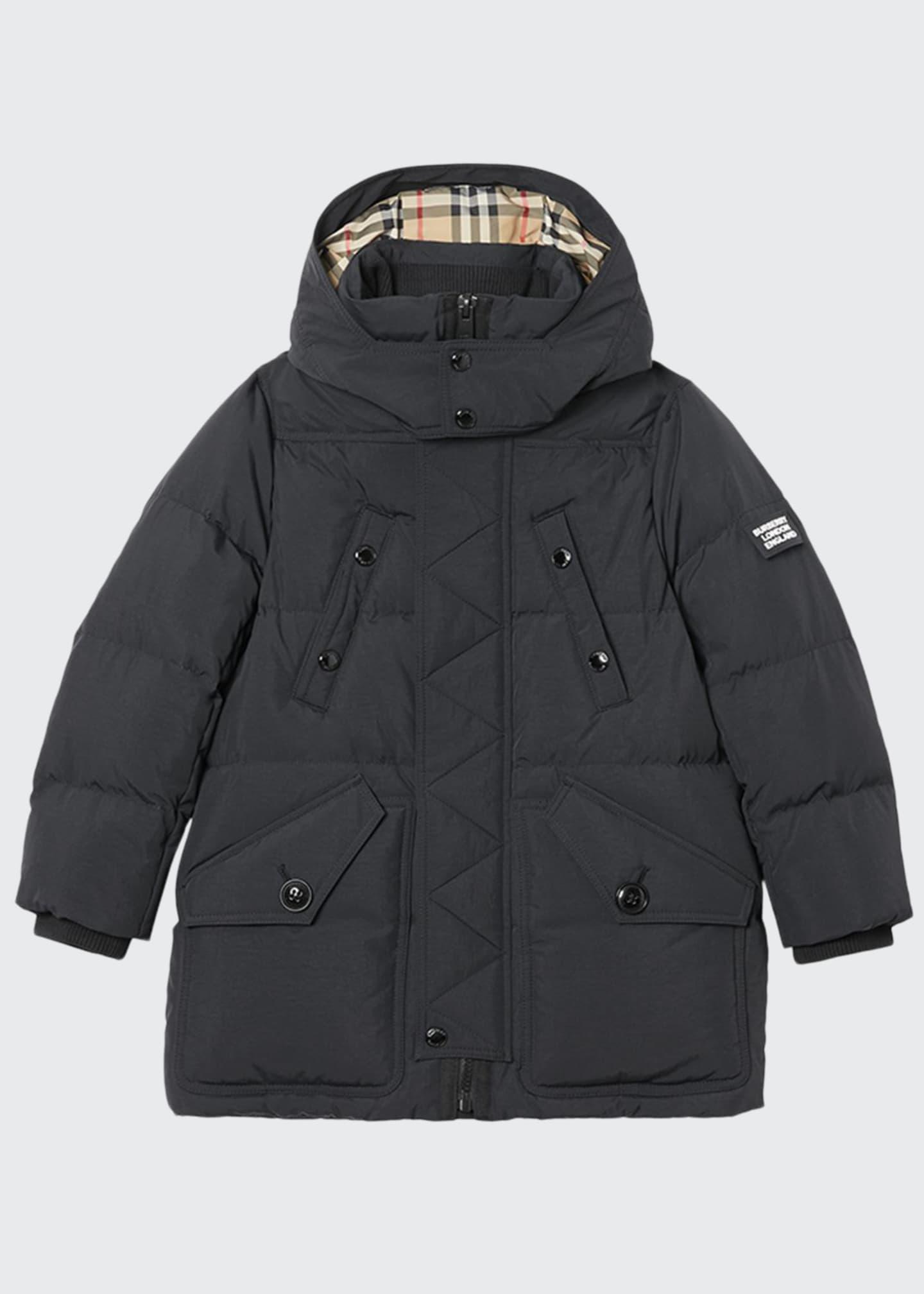 Burberry Boy's Ryker Puffer Parka Coat, Size 3-14