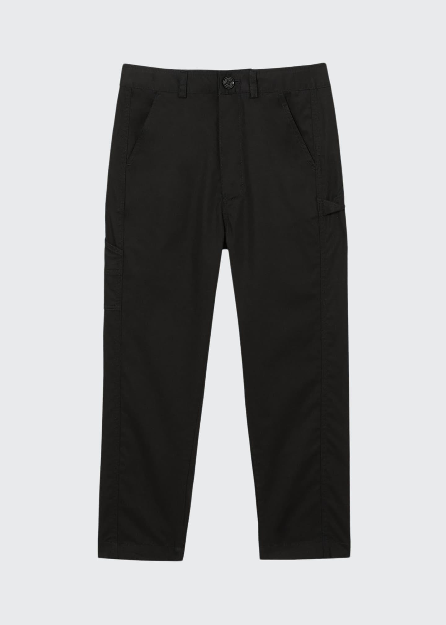 Burberry Boy's Trousers w/ Logo Patch, Size 3-14