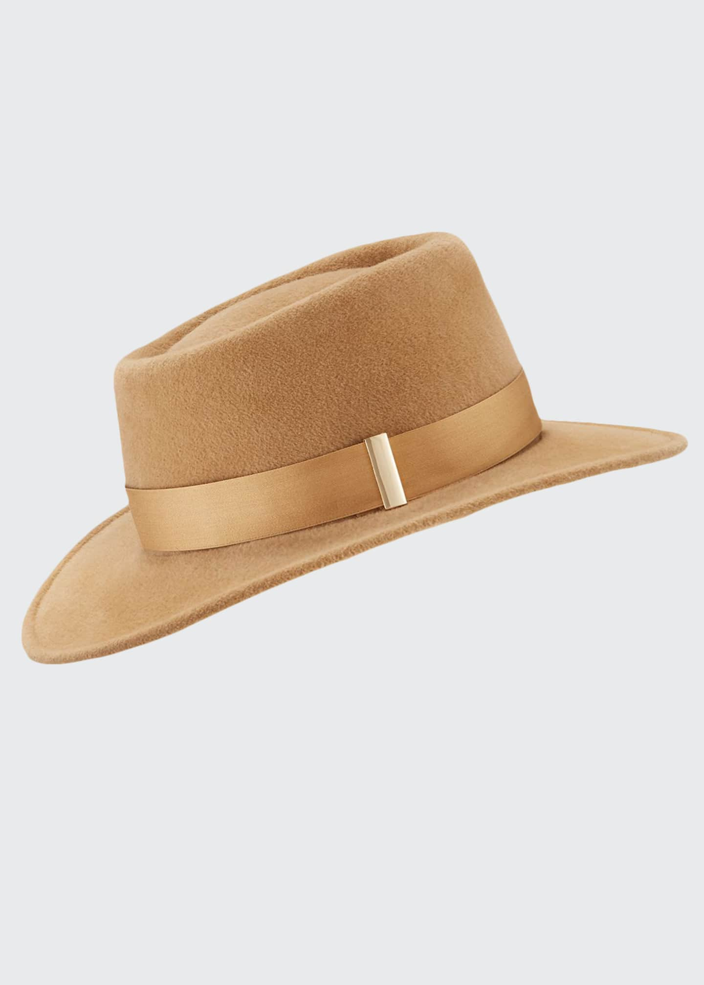 Gigi Burris Small Brim Rabbit Felt Fedora Hat