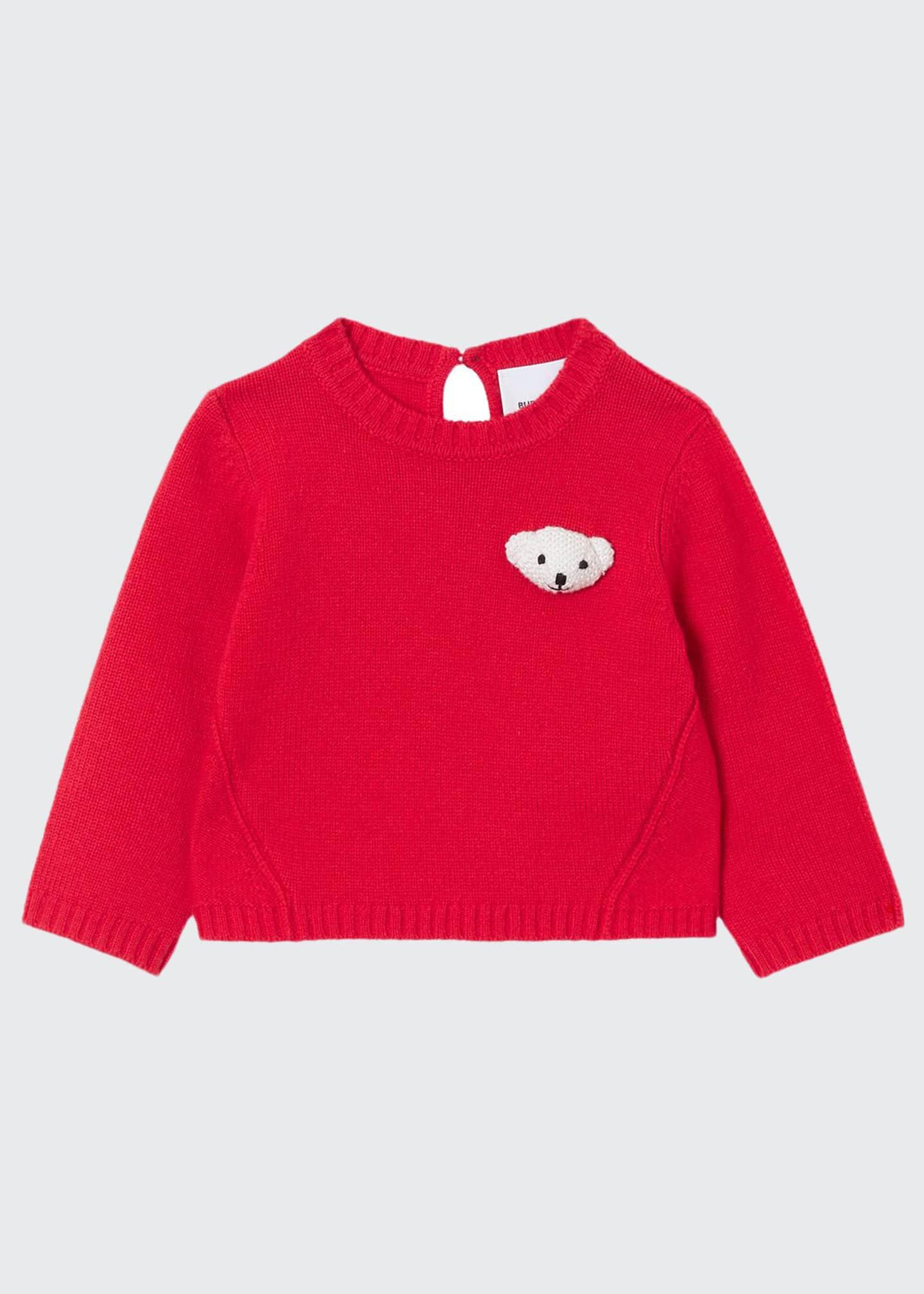 Burberry Boy's Gert Teddy Bear Sweater, Size 6M-2