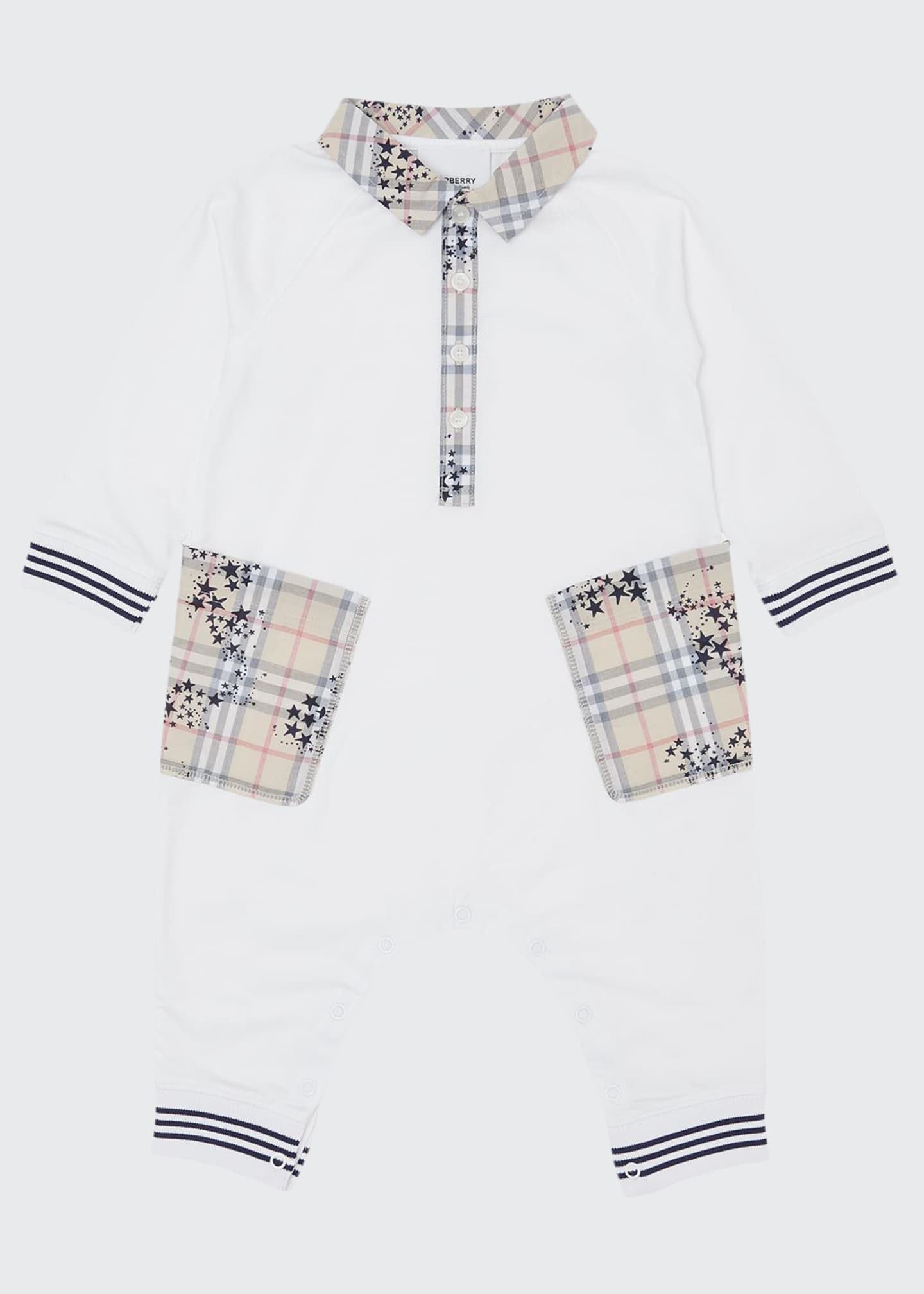 Burberry Boy's Anton Spread Collar Coverall w/ Check