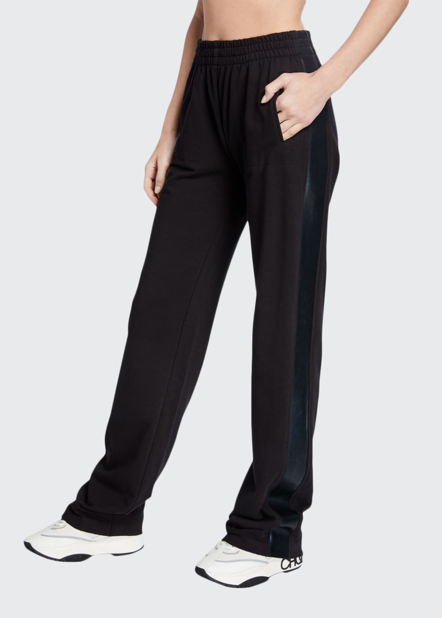 Image 1 of 3: Side Striped Boyfriend Sweatpants