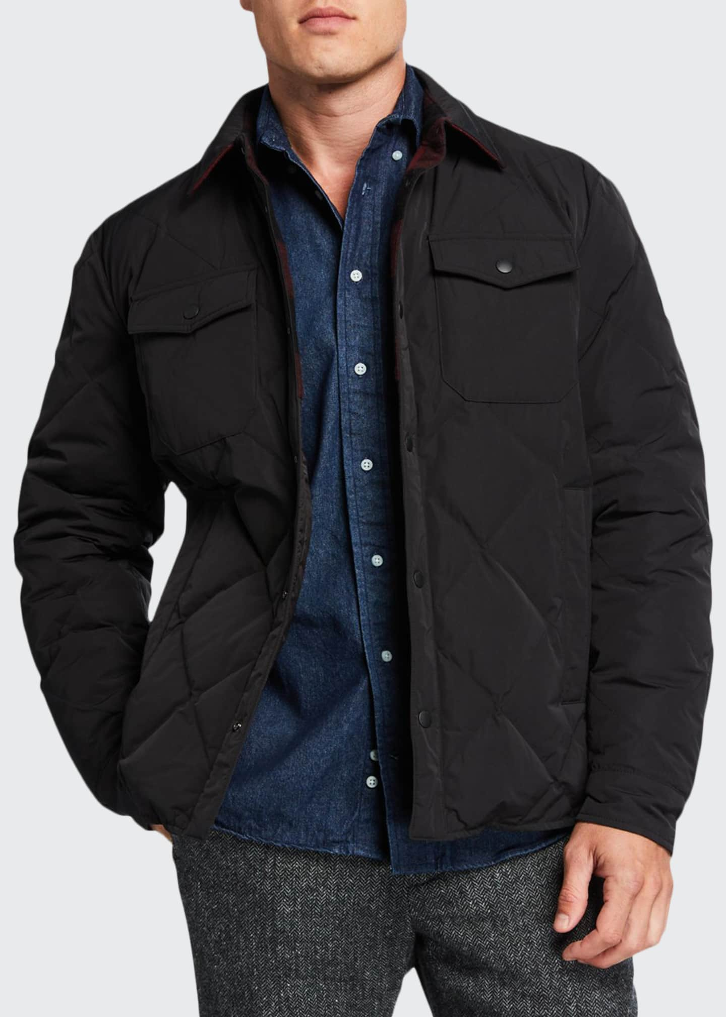 Image 1 of 4: Men's Rowland Reversible Quilted Shirt Jacket