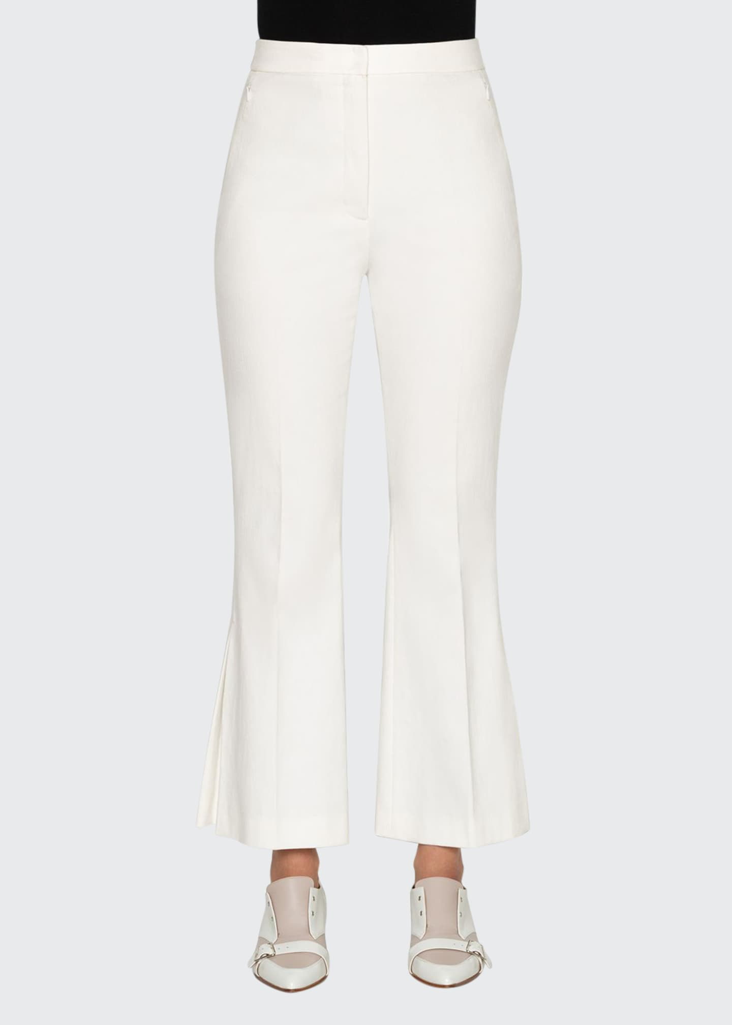 Akris Stretch Cotton Pleated-Flare Pants