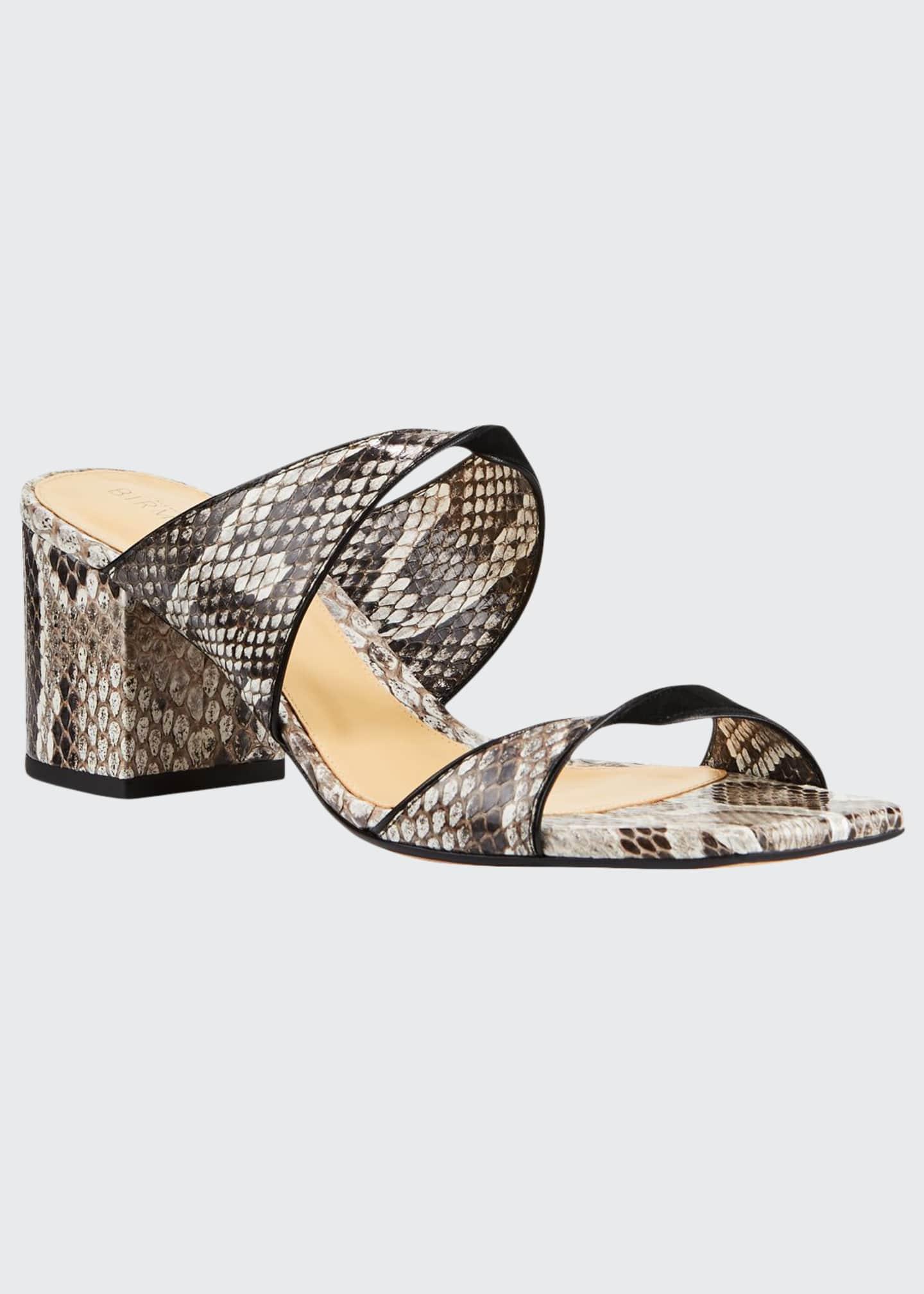 Alexandre Birman Miki Python Twist Slide Sandals