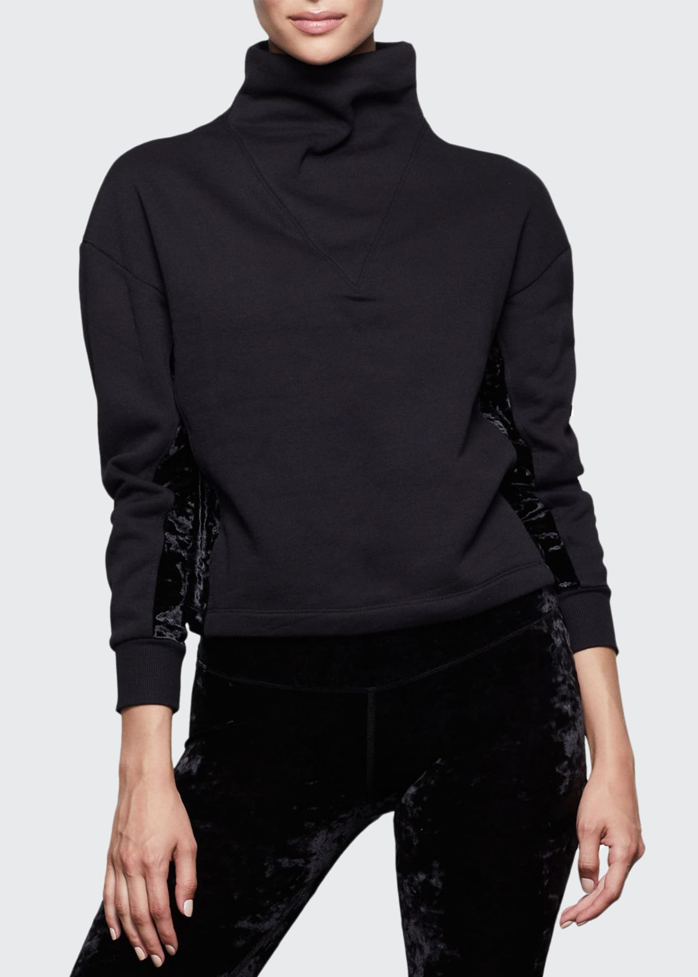 Good American Funnel-Neck Structured Crop Pullover - Inclusive