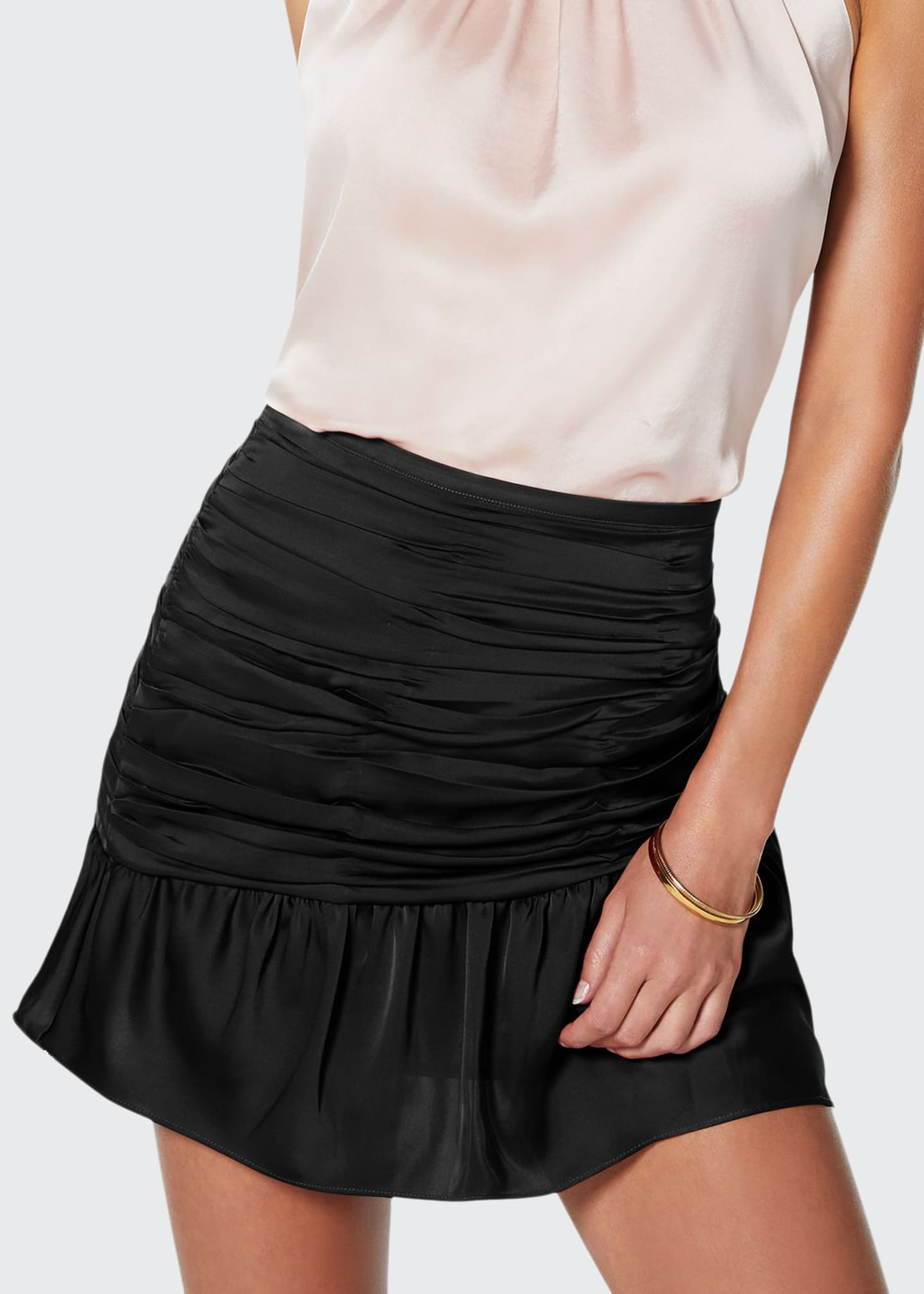 Image 1 of 3: Mini Ruched Short Skirt