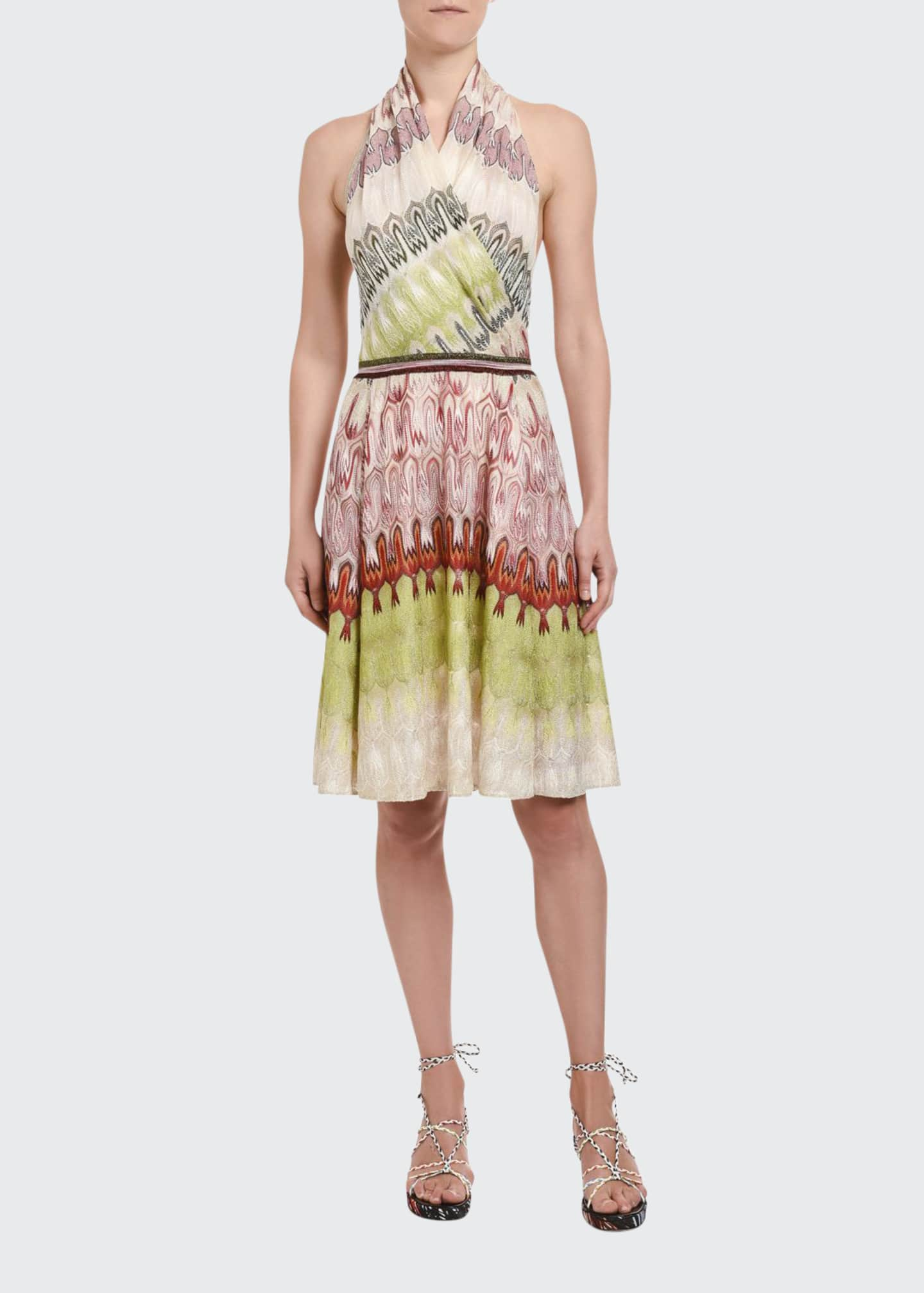 Missoni Optical Knit Halter Dress