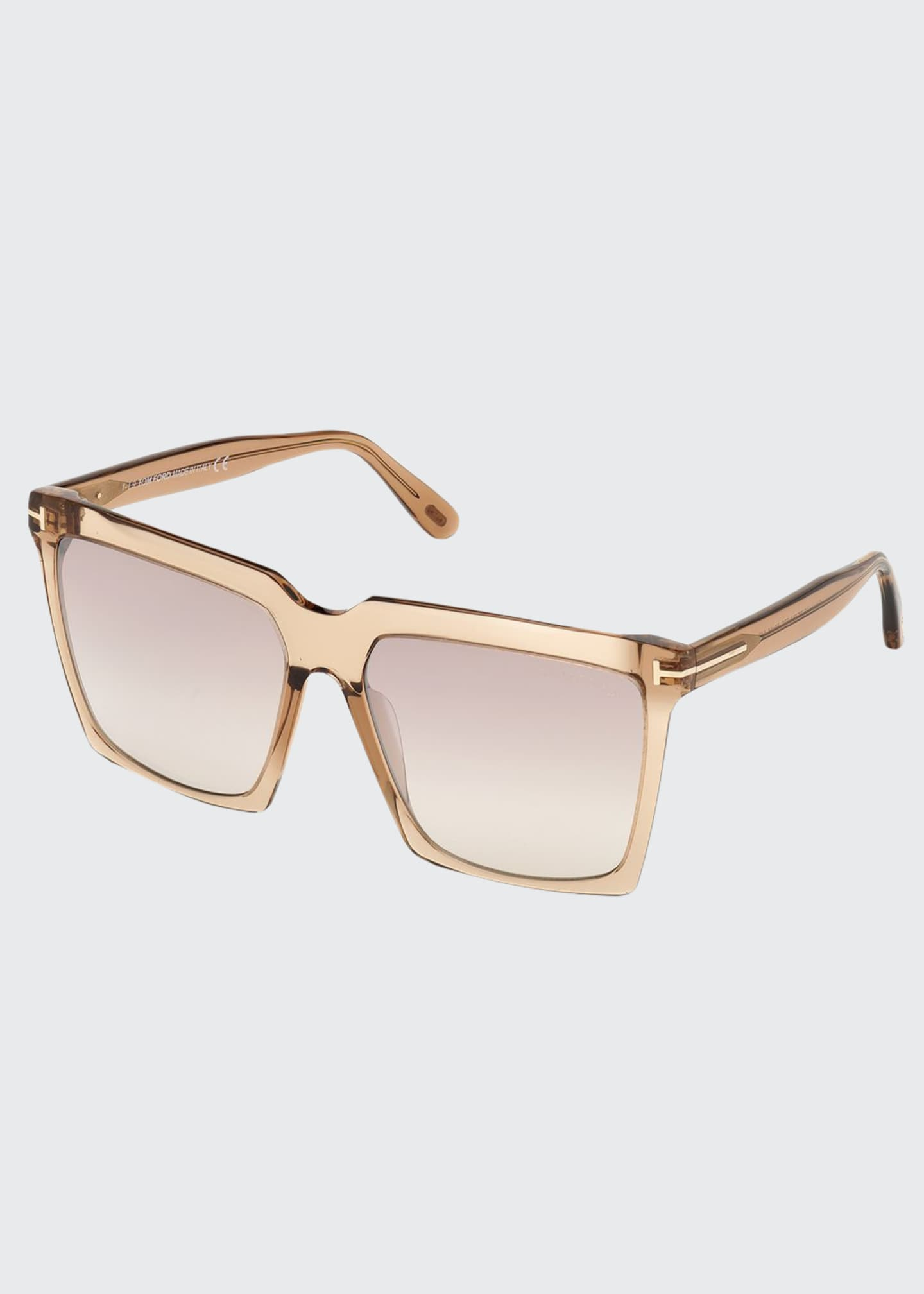 Image 1 of 1: Sabrina Square Plastic Sunglasses