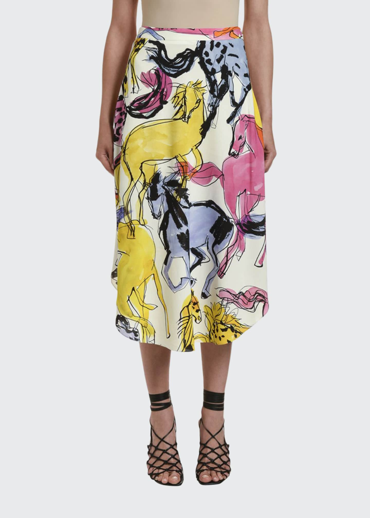 Image 1 of 2: Multicolor Midi Skirt