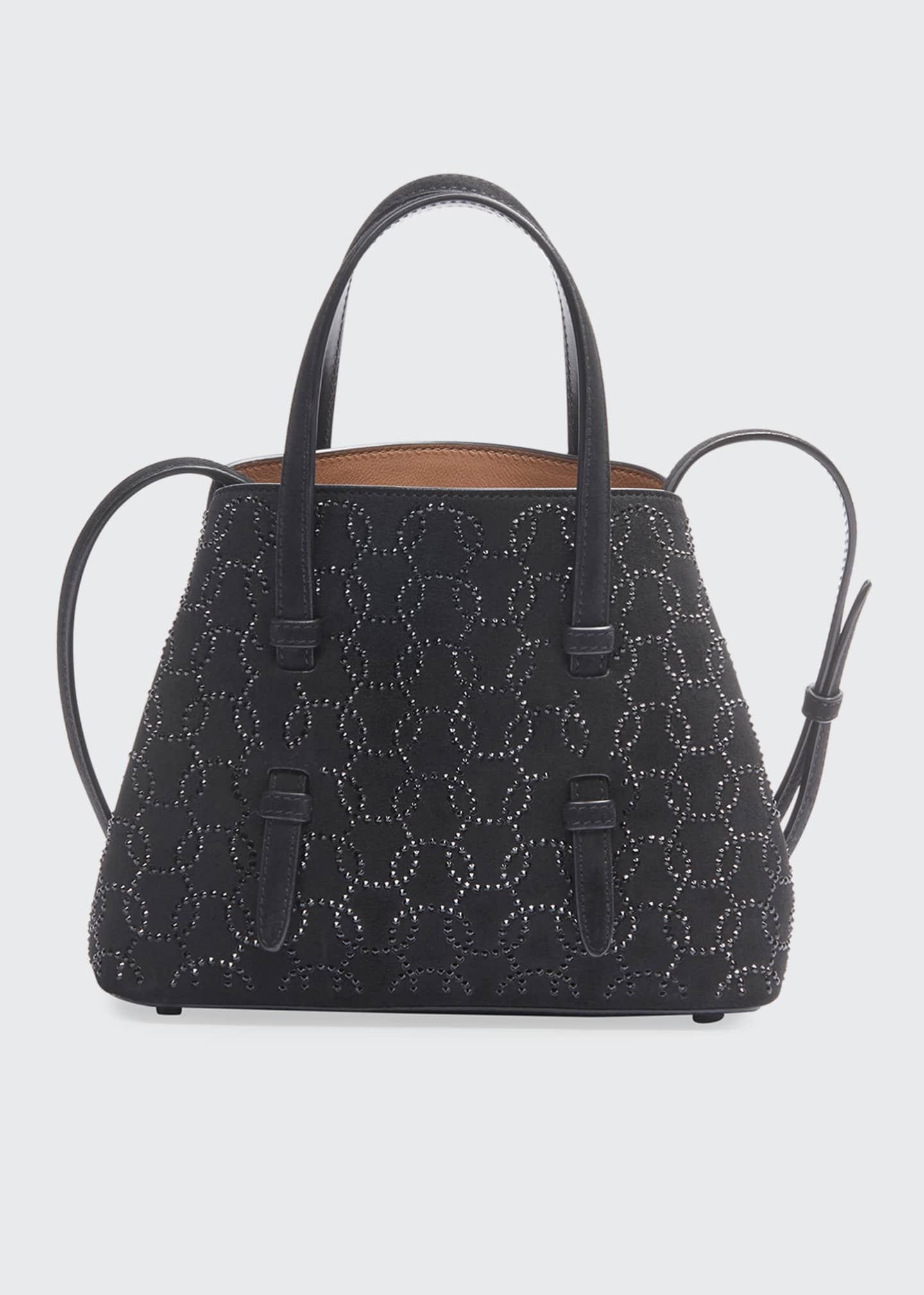 ALAIA Mina Mini Swarovski Crystal Tote Bag