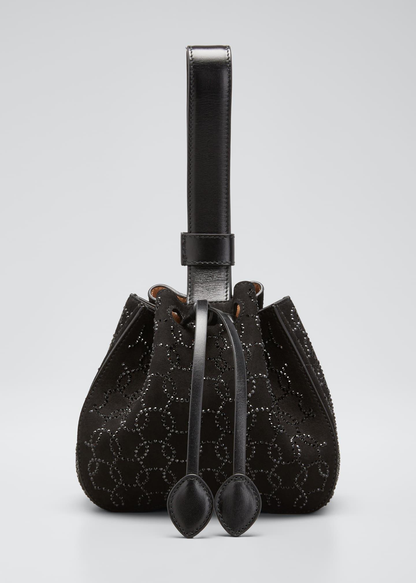 ALAIA Rose-Marie Mini Suede Bucket Bag