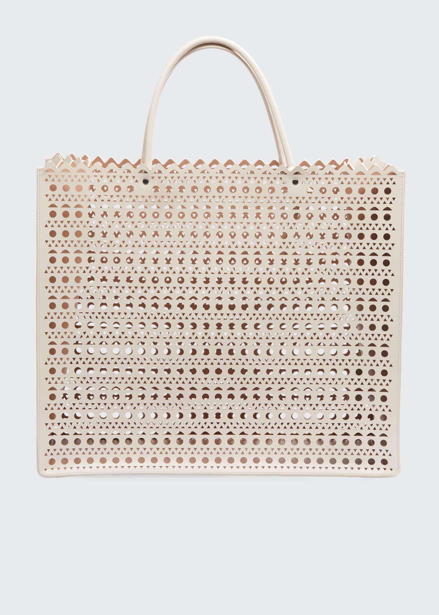 ALAIA Garance Large Cuir Vienne Tote Bag