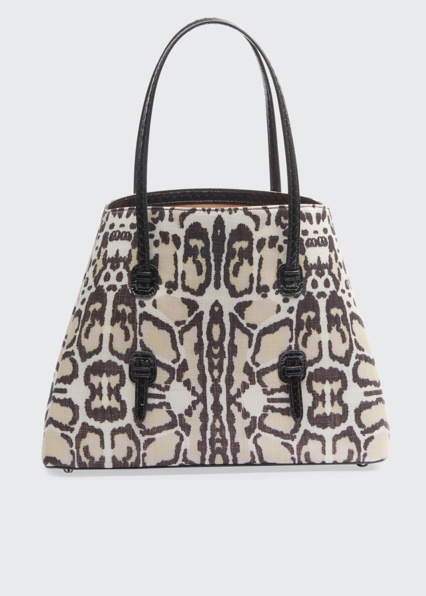 ALAIA Mina Leopard-Print Medium Tote Bag