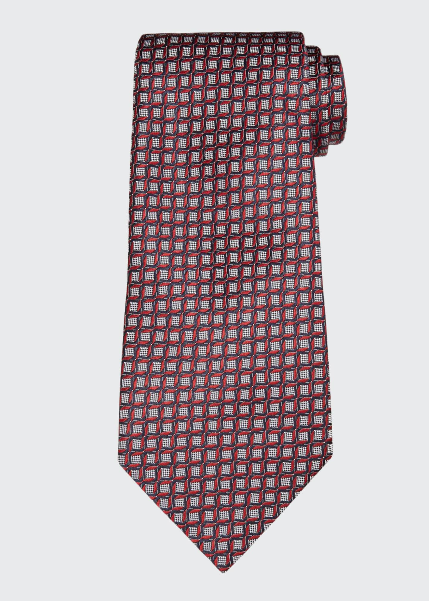 Image 1 of 1: Men's Intertwined Silk Tie