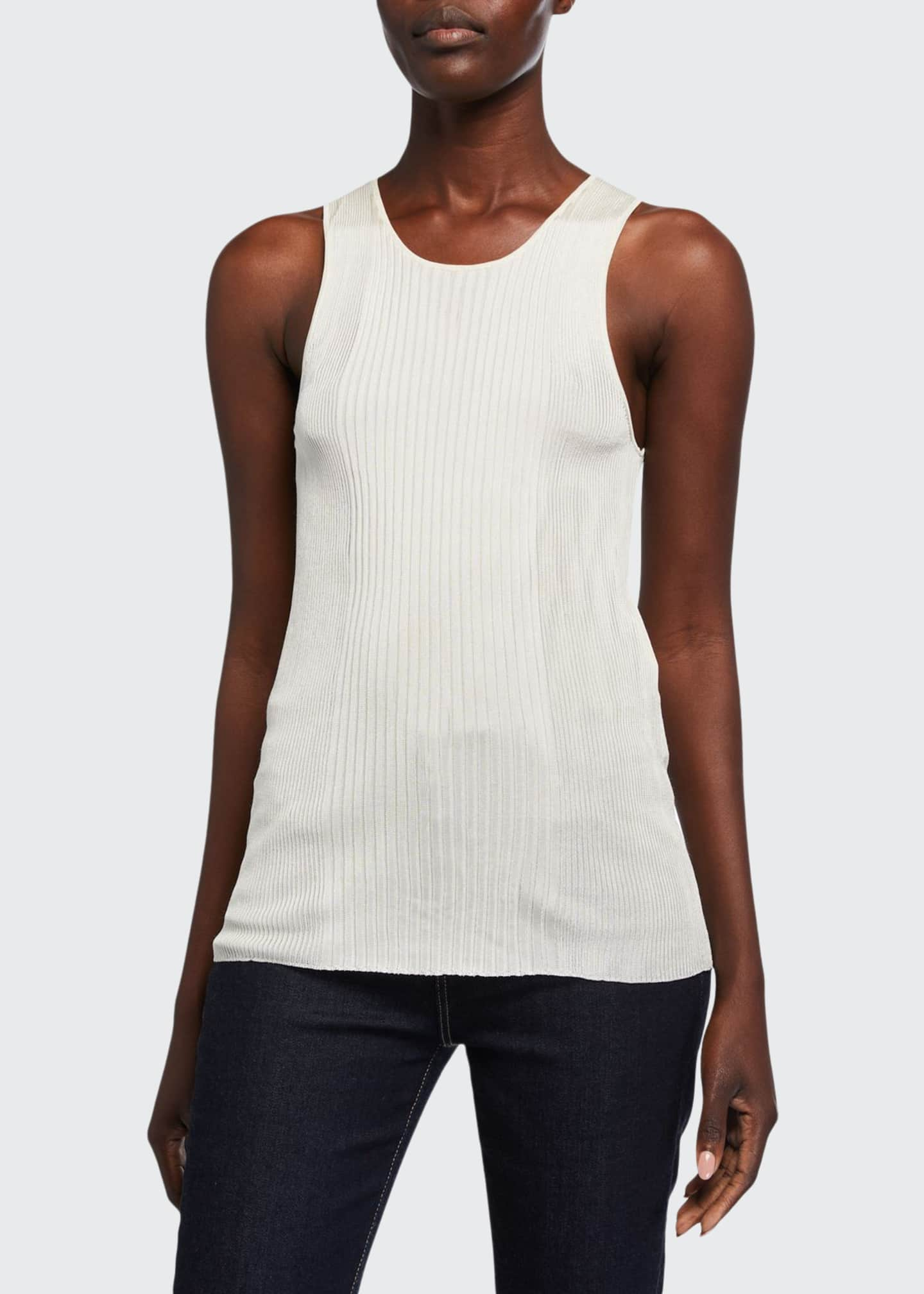 Image 1 of 2: Ribbed Sleeveless Top