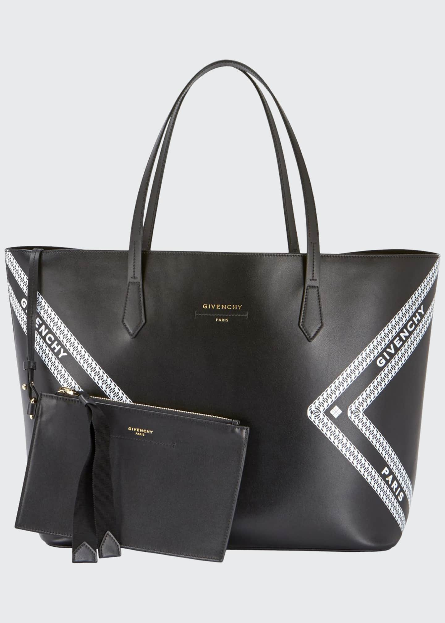 Givenchy Wing Smooth Logo Shopping Tote Bag