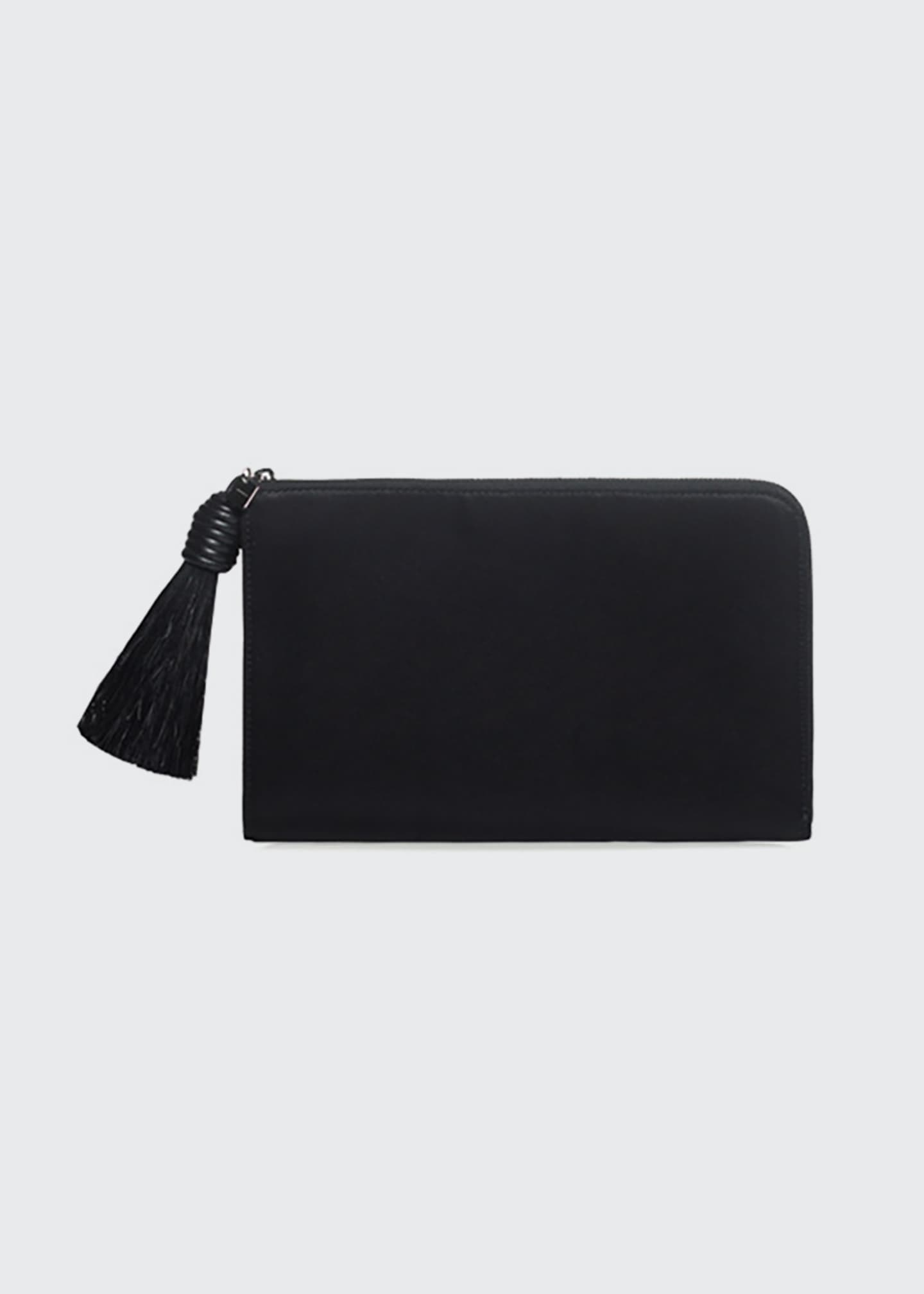 Akris Alexa Zip Pouch Clutch Bag with Horsehair
