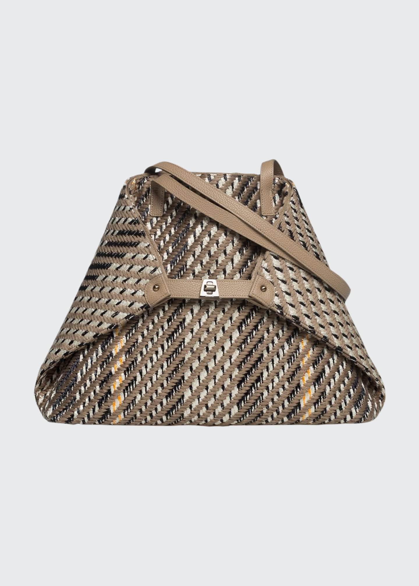 Akris AI Medium Soft Woven Shoulder Tote Bag