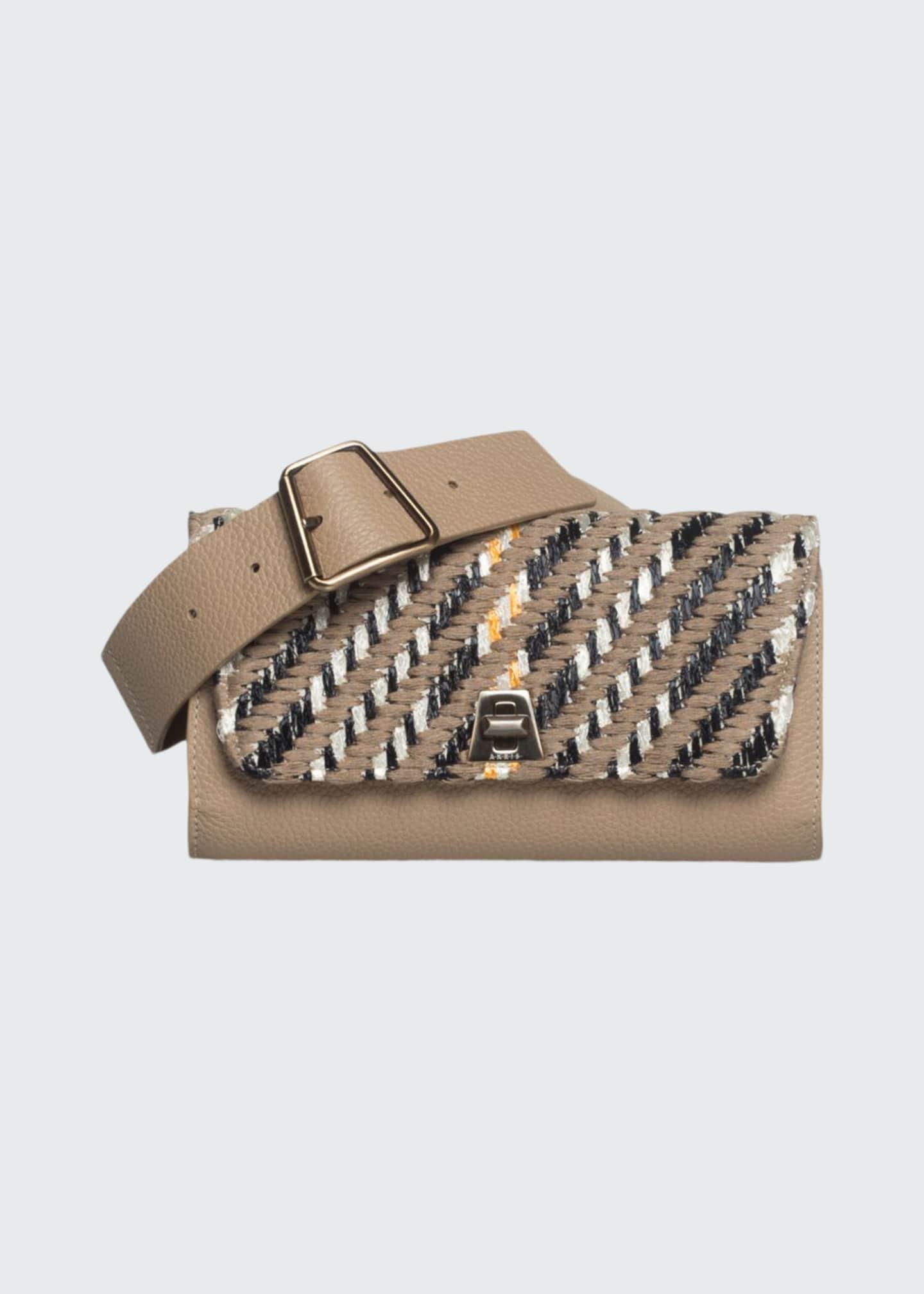 Akris Anouk Small Woven Flap Belt Bag