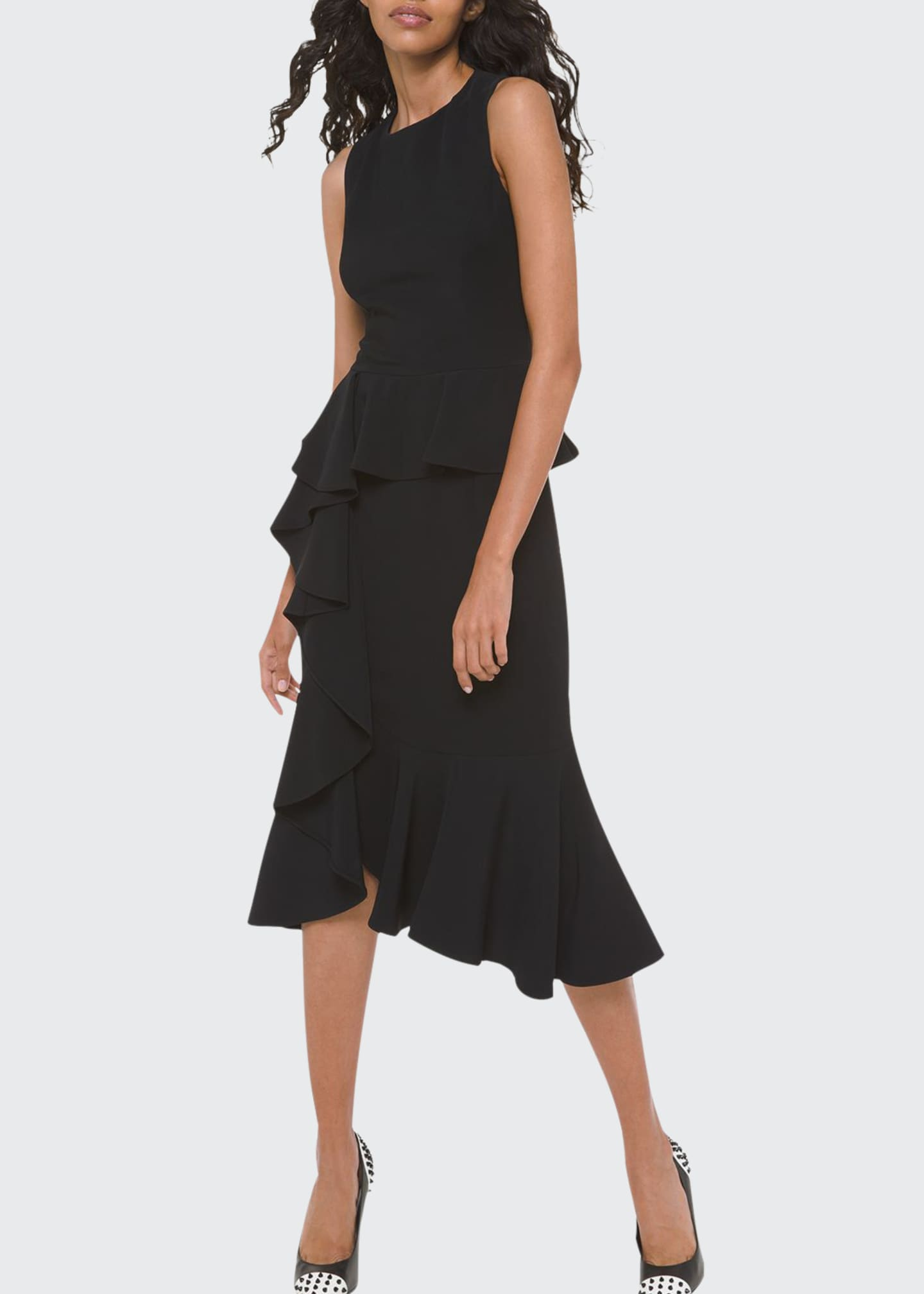 Image 1 of 2: Asymmetric Cascading Sheath Dress
