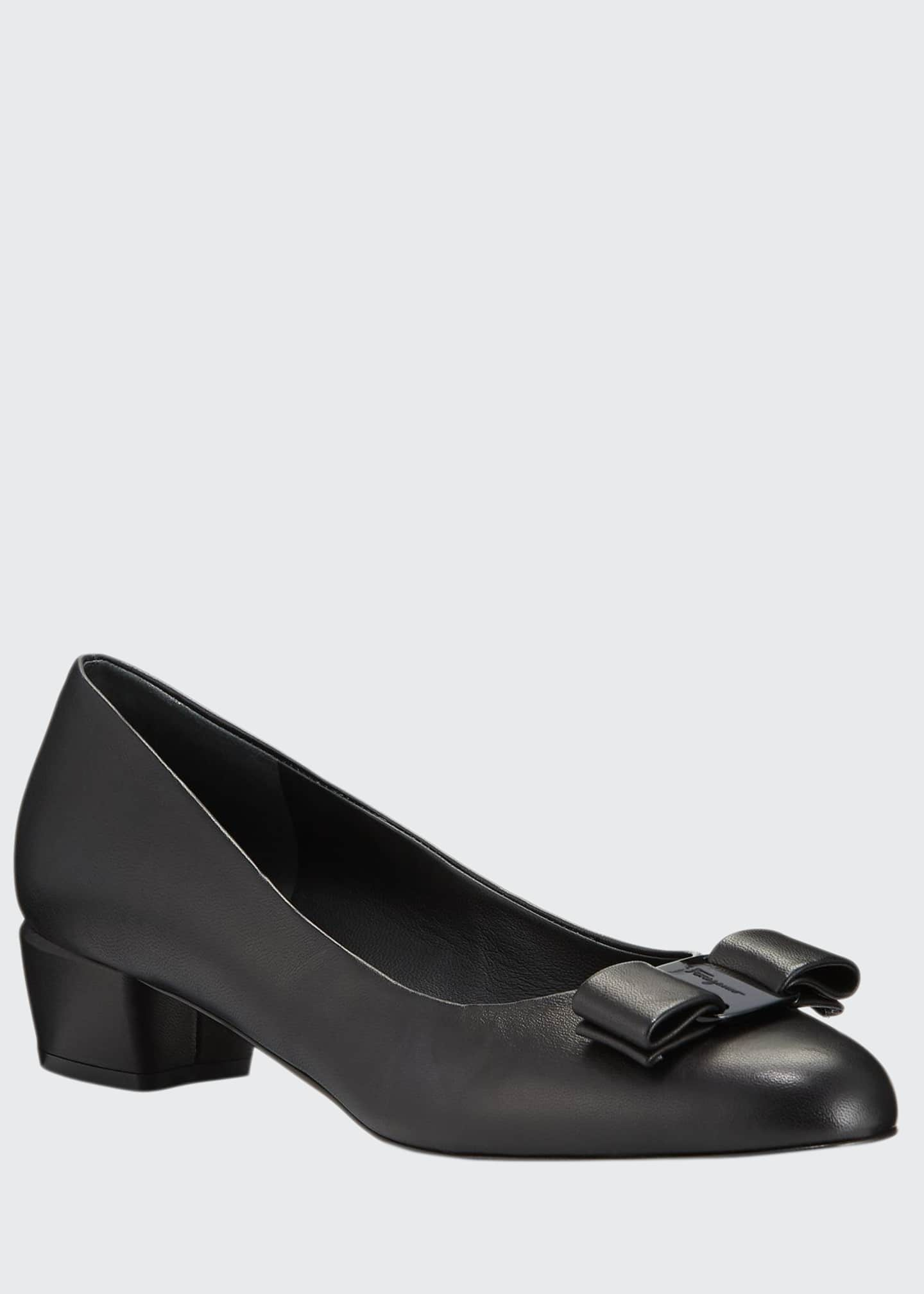 Image 1 of 3: Vara Bow Leather Ballerina Flats