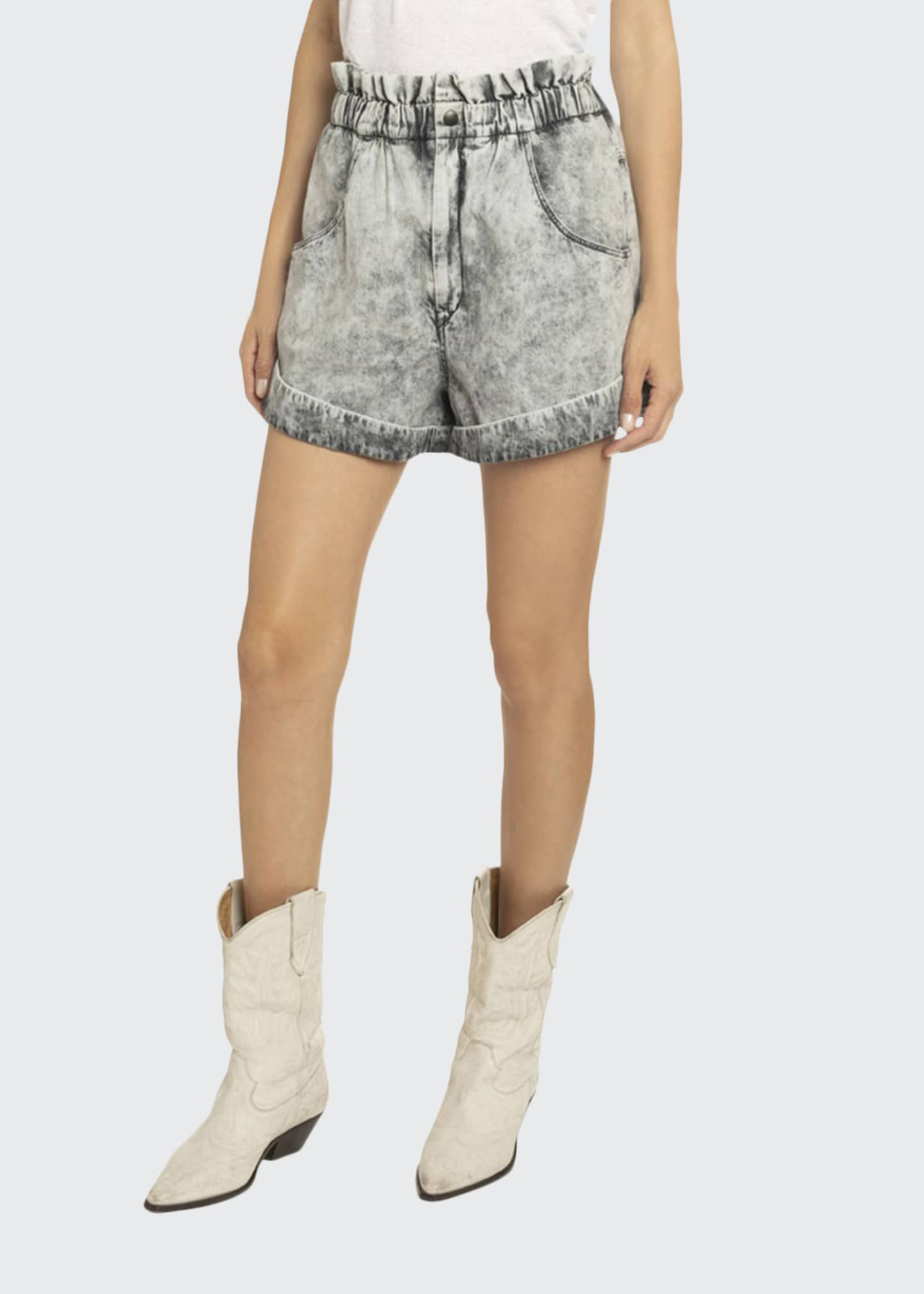 Etoile Isabel Marant Itea High-Waist Denim Shorts