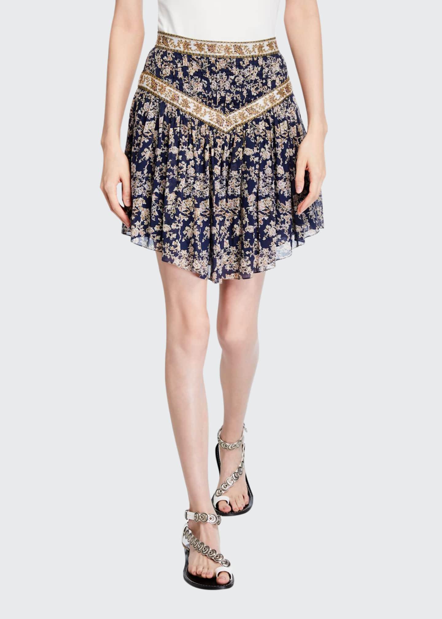 Etoile Isabel Marant Valerie Floral Patchwork Skirt