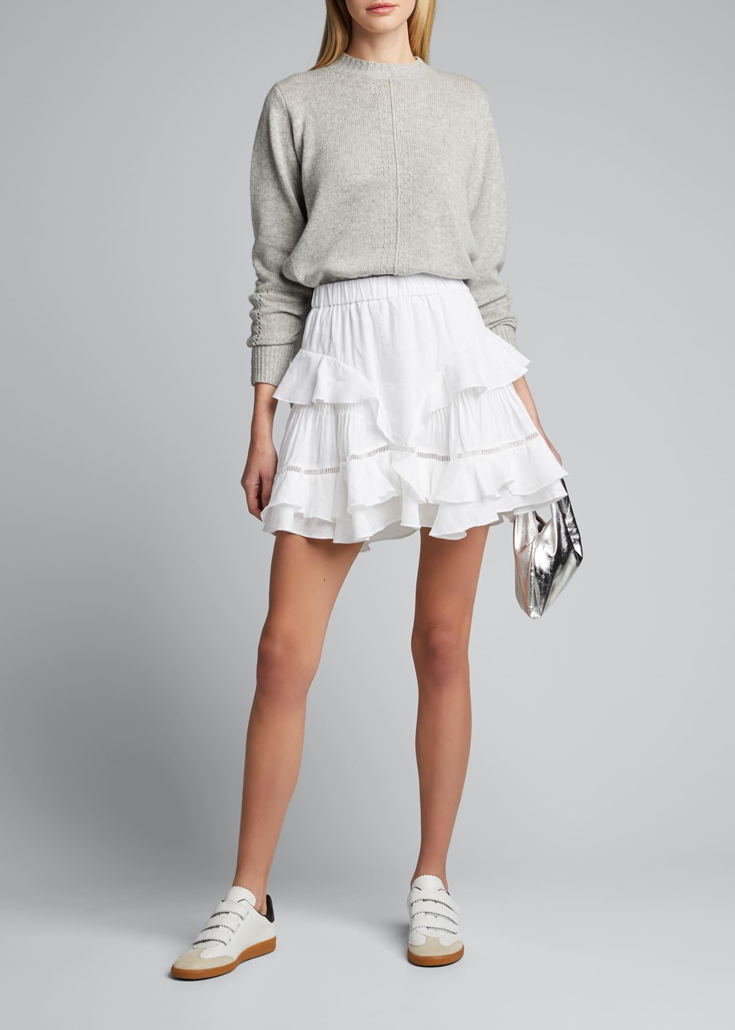 Etoile Isabel Marant Alikaya Linen Flounce Skirt