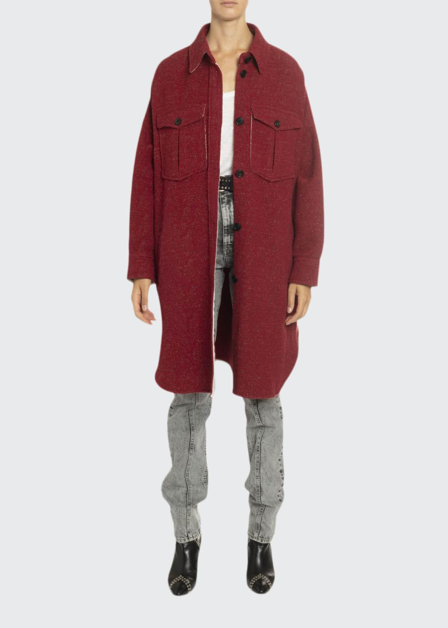 Etoile Isabel Marant Obira Wool Shirt Jacket