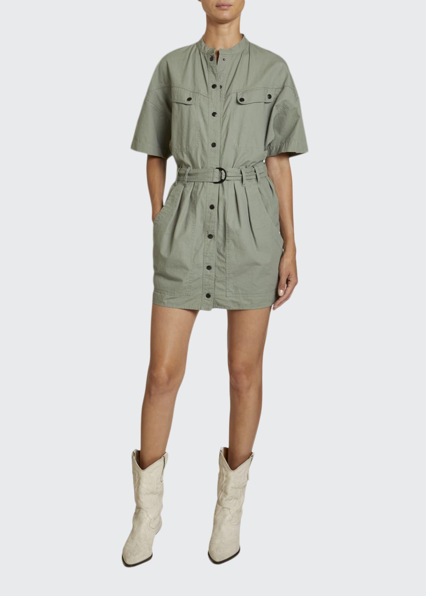Etoile Isabel Marant Zolina Cotton Utility Shirtdress