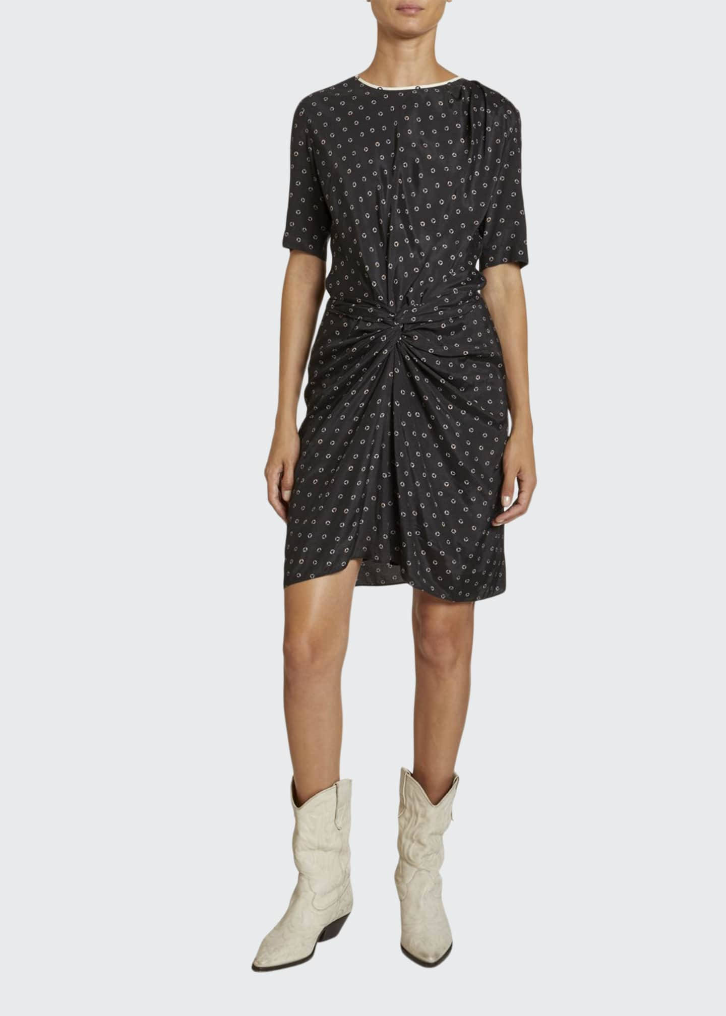 Etoile Isabel Marant Bardeny Twisted Crewneck Tee Dress