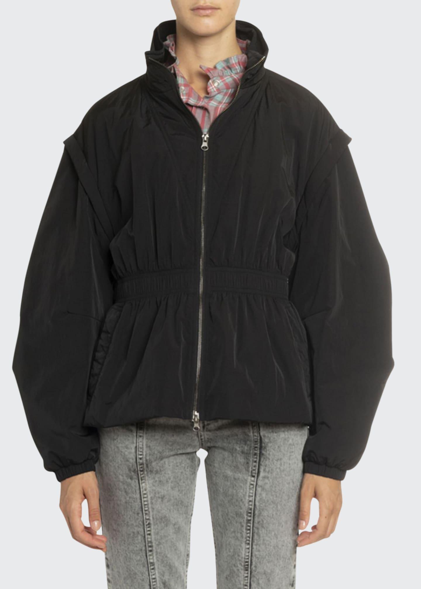 Etoile Isabel Marant Dastya Convertible Tech Zip-Front Jacket