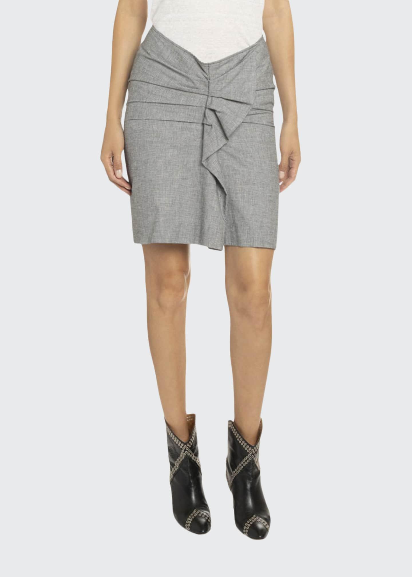 Etoile Isabel Marant Ines Draped Ruffle Skirt