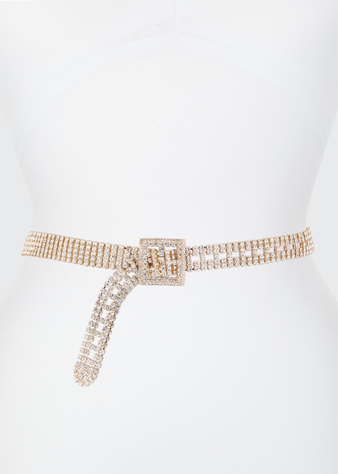 Veronica Beard Orlon Crystal Beaded Belt