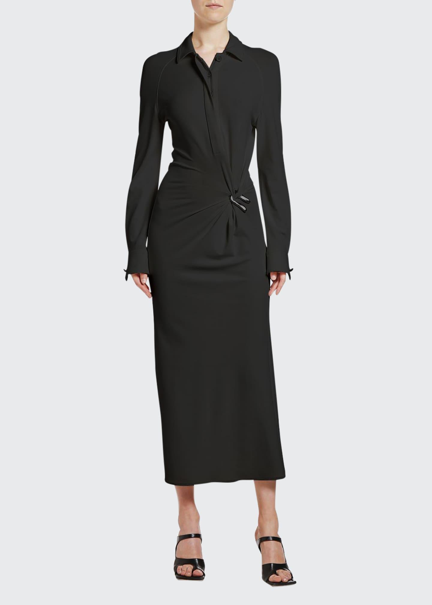 Bottega Veneta Wrapped Midi Shirtdress
