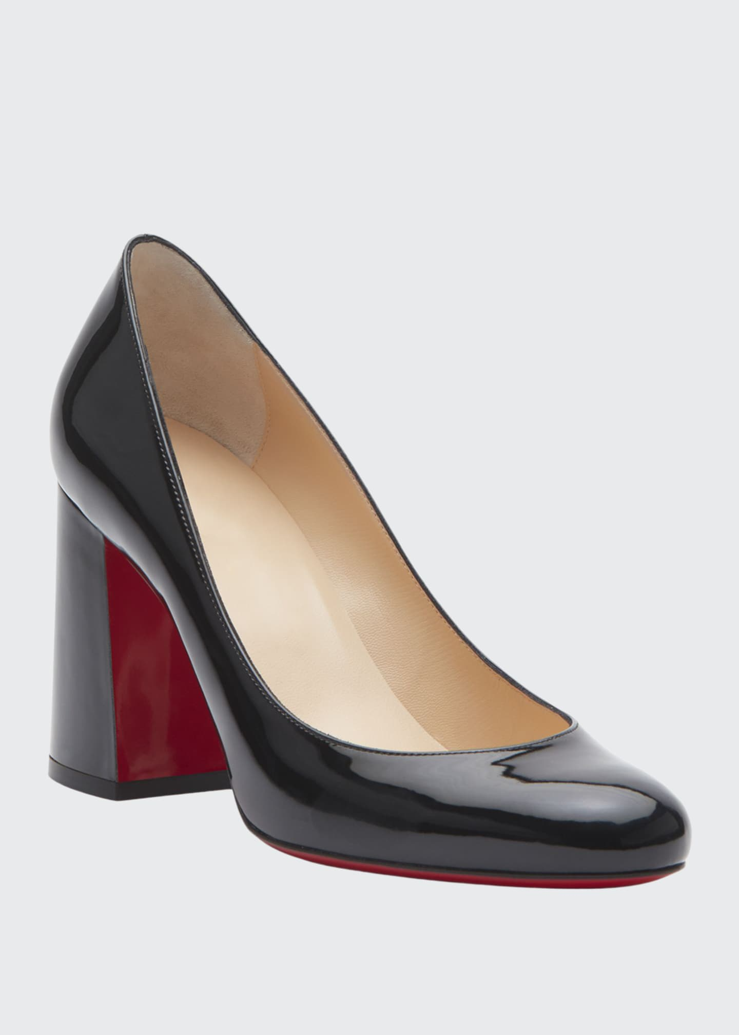 Image 1 of 5: Baobab 85 Patent Red Sole Pumps
