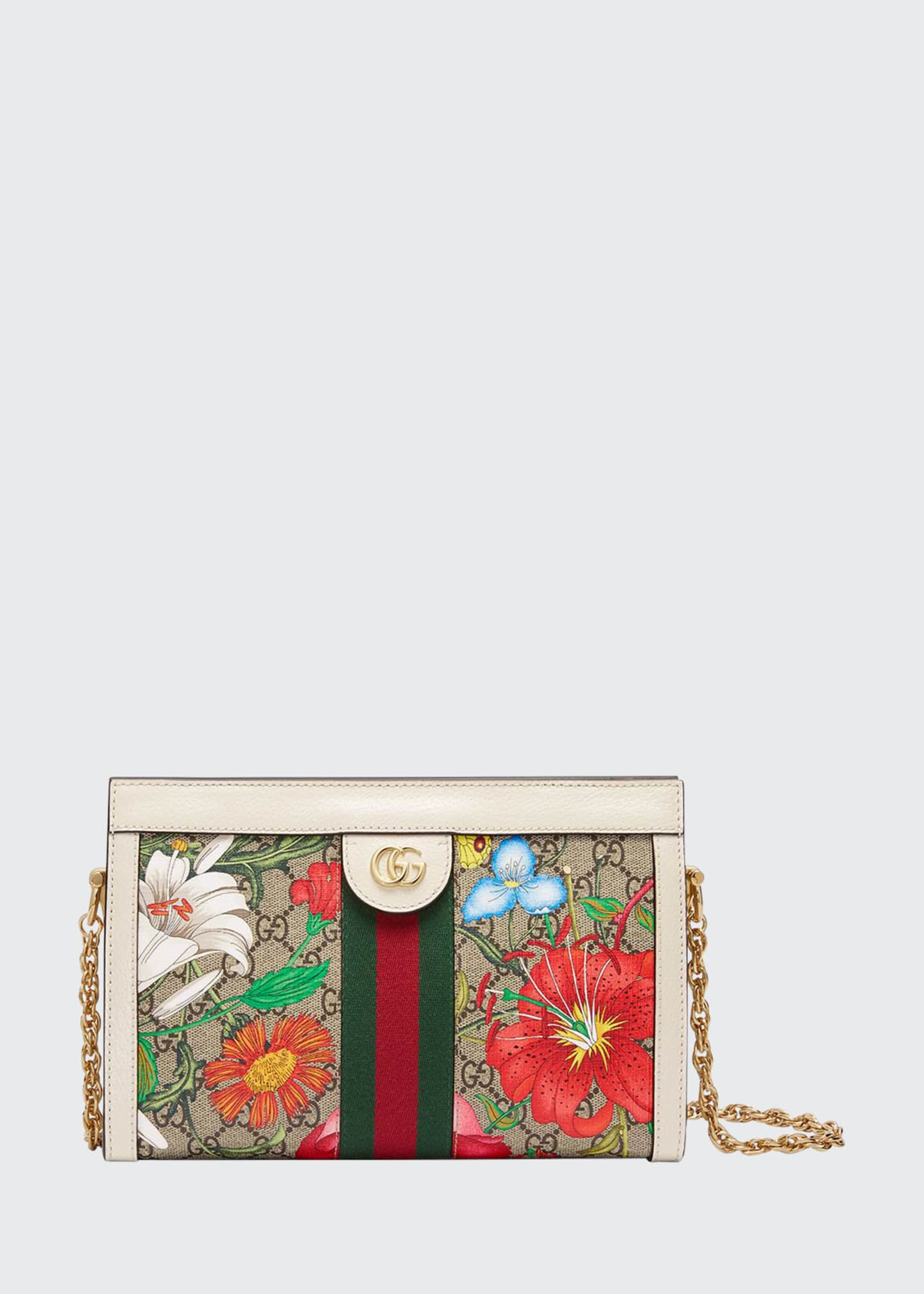 Gucci Ophidia Small GG Supreme Flora Shoulder Bag