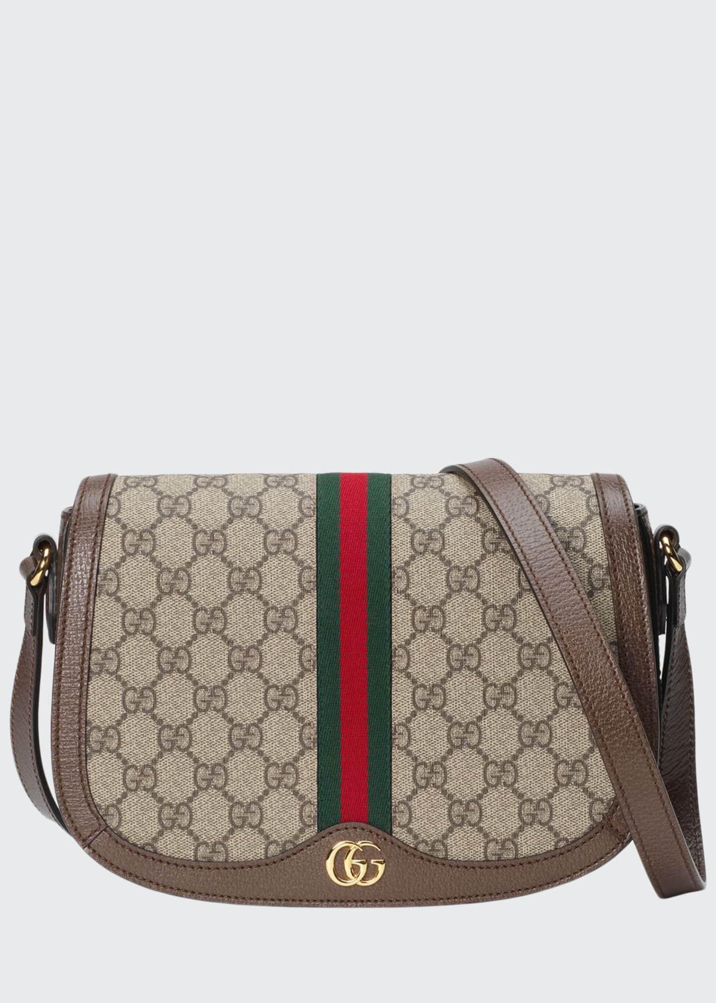 Gucci Ophidia Small GG Supreme Flap Messenger Bag