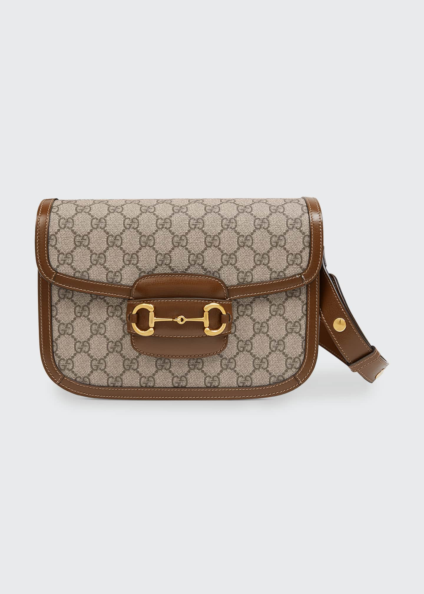Gucci 1955 Morsetto GG Supreme Horsebit Shoulder Bag